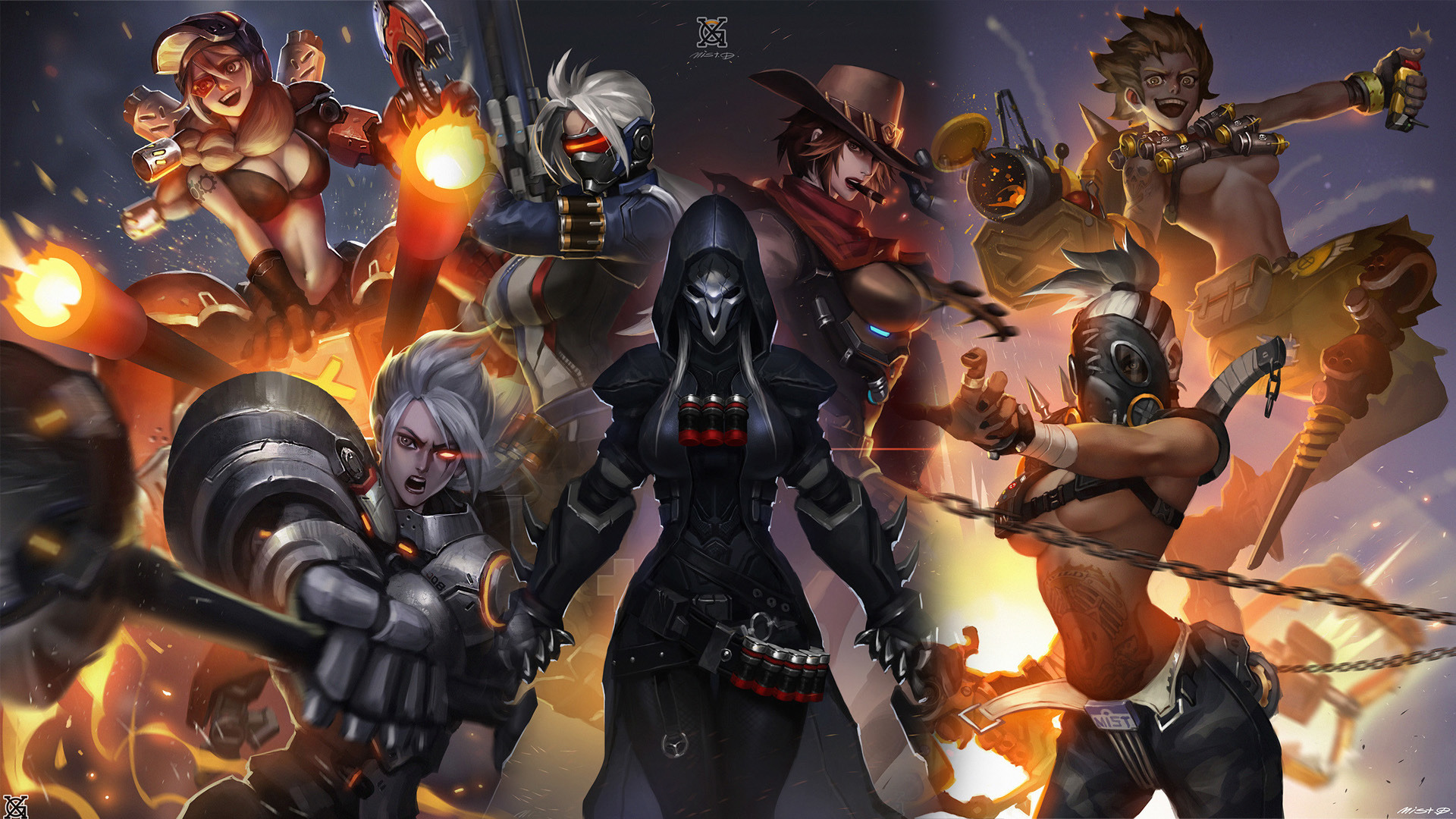 Download 1920x1080 wallpaper overwatch girl warriors all full hd hdtv fhd 1080p 1920x1080 - 1366x768 is 720p or 1080p ...
