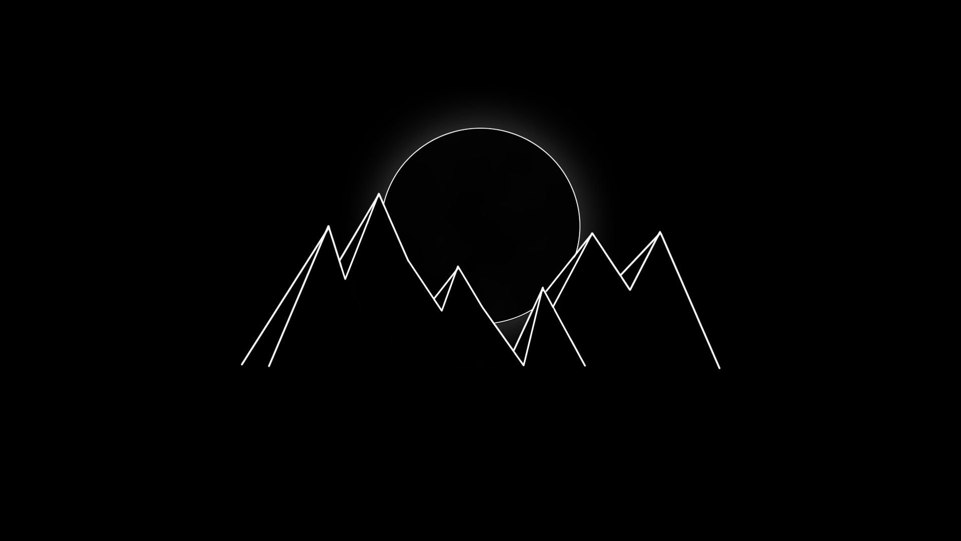 Download 1920x1080 Wallpaper Minimal Dark Mountains Full Hd