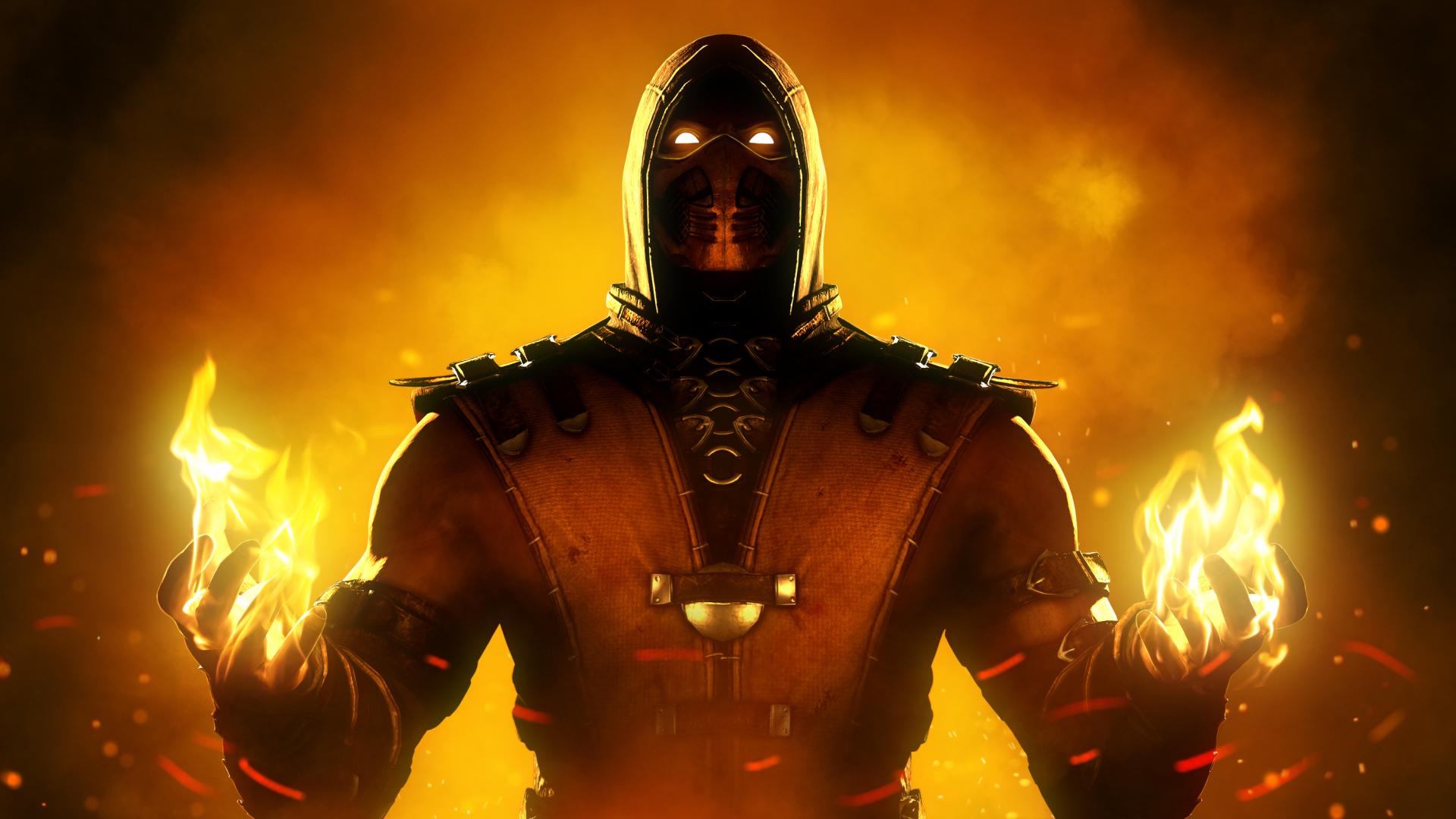 Download 1920x1080 Wallpaper Scorpion Mortal Kombat X Video Game