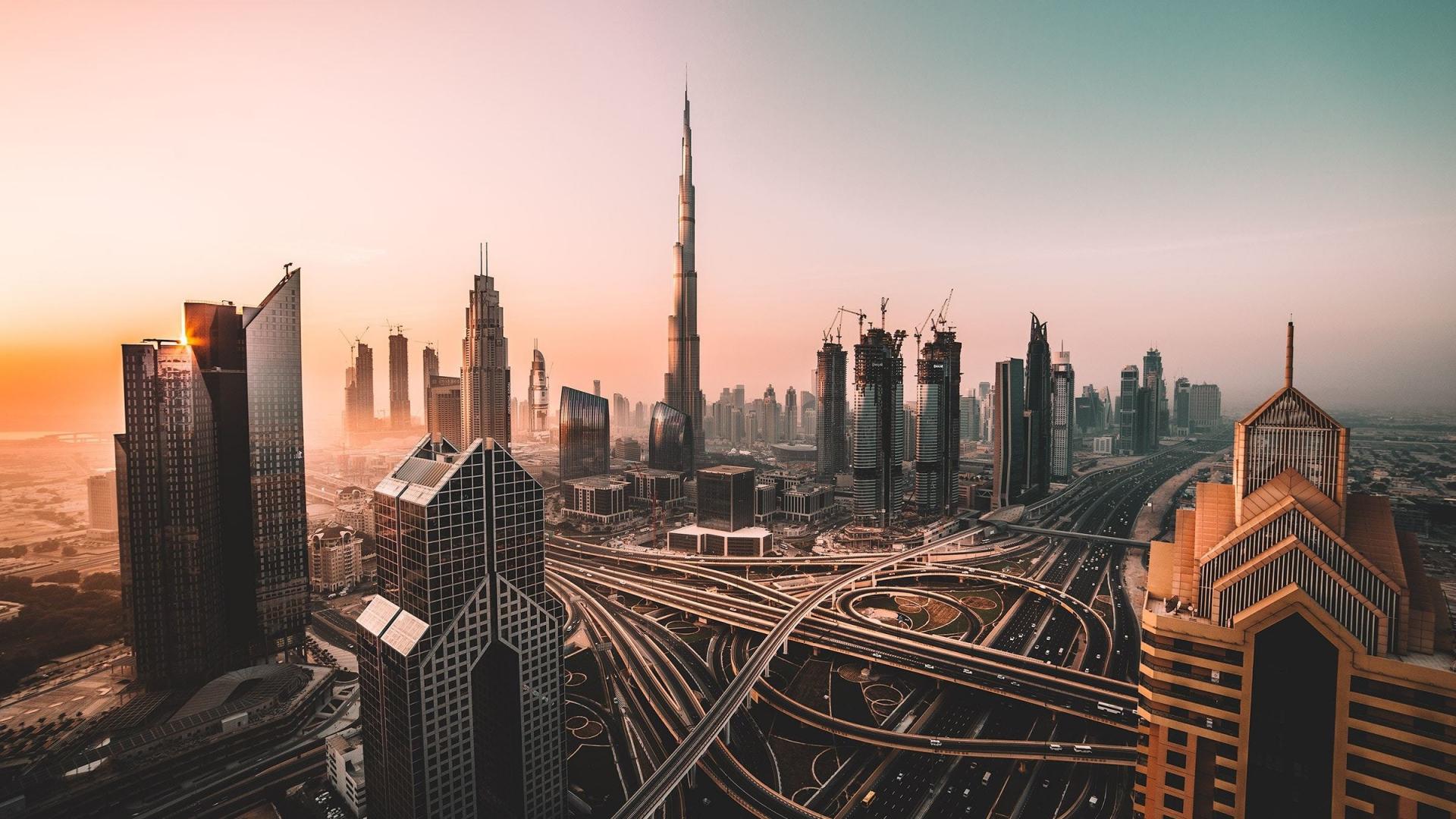Dubai, skyline, cityscape, skyscrapers, buildings, Burj Khalifa, city, 1920x1080 wallpaper