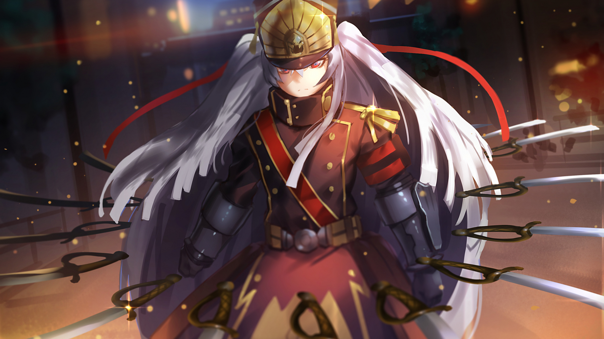 Download 1920x1080 Wallpaper Altair Re Creators Anime Girl Army
