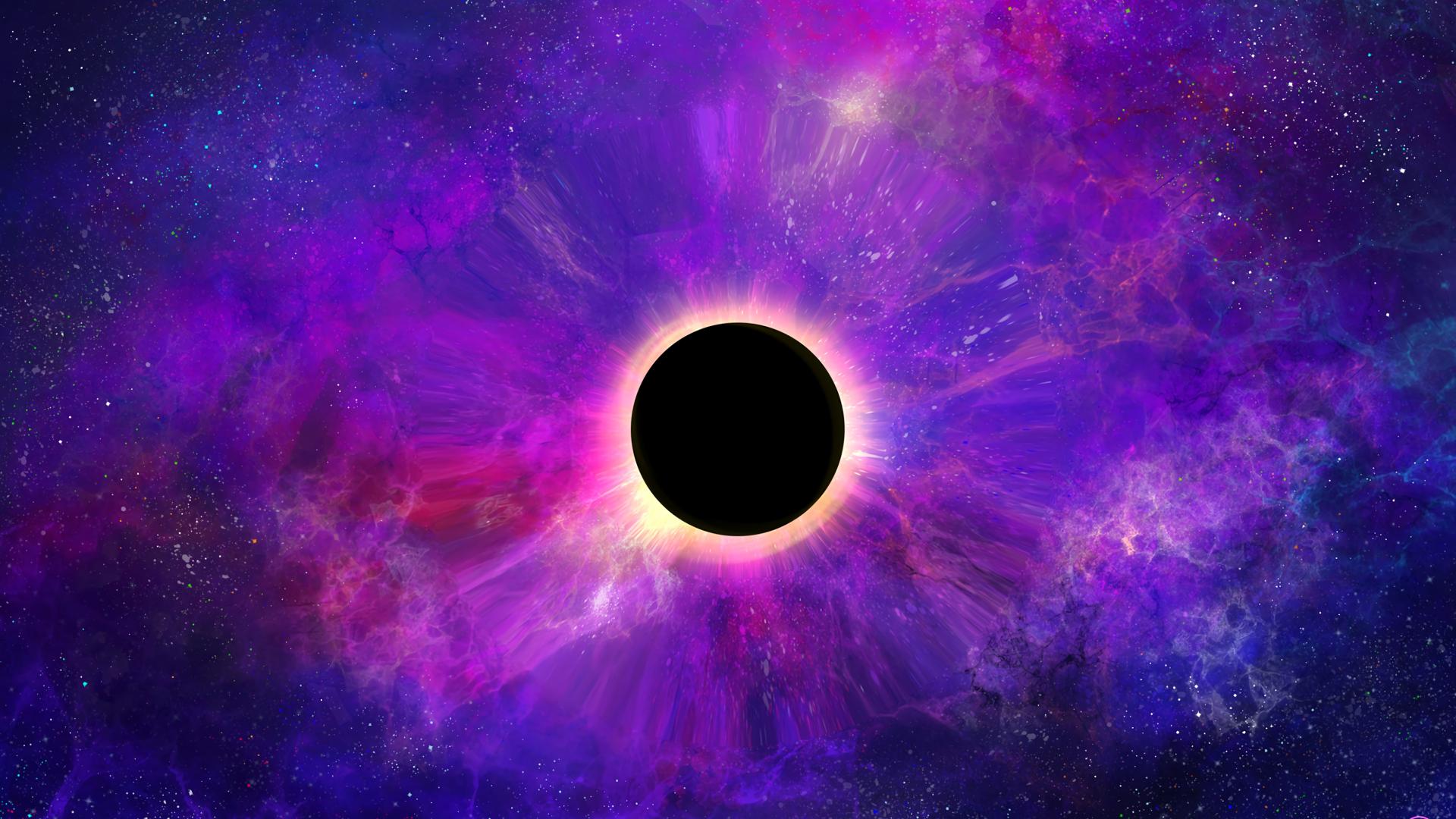 Download 1920x1080 Wallpaper Space Colorful Dark Black
