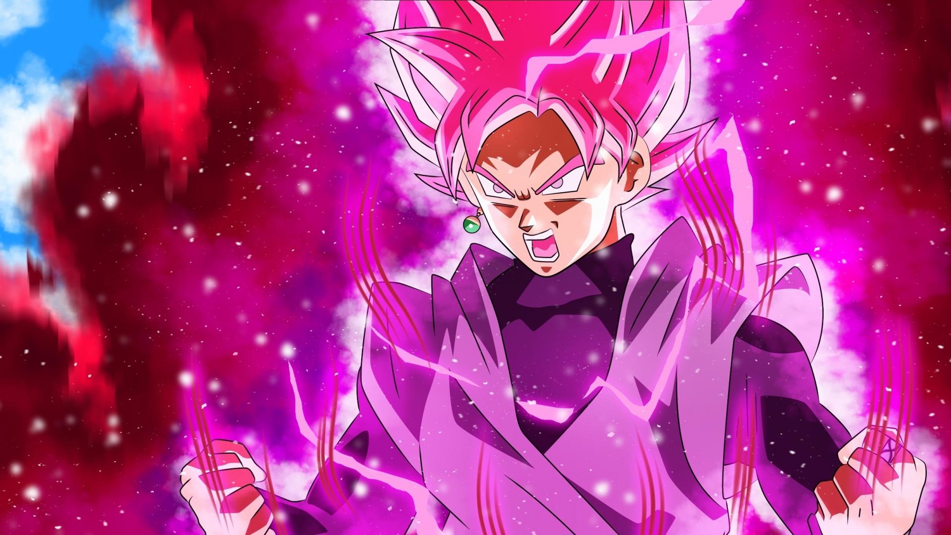 Full Power Dragon Ball Super Black Goku 1920x1080 Wallpaper
