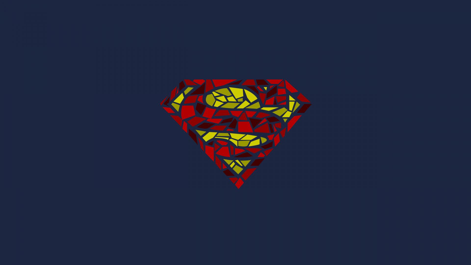 Download 1920x1080 wallpaper superman logo mosaic artwork superman logo mosaic artwork superhero minimal 1920x1080 wallpaper voltagebd Choice Image
