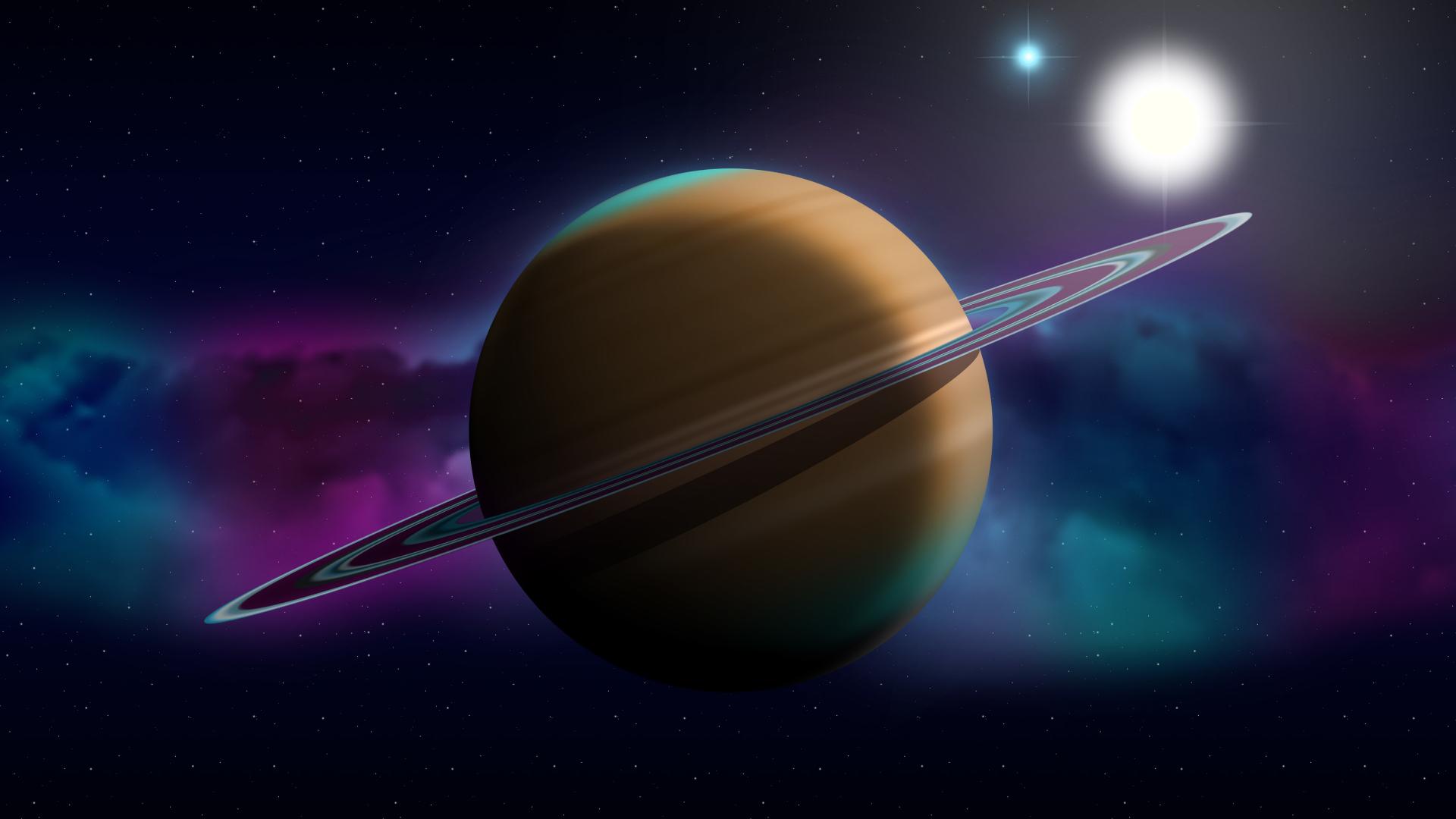 Download 1920x1080 Wallpaper Saturn Planet Space Digital