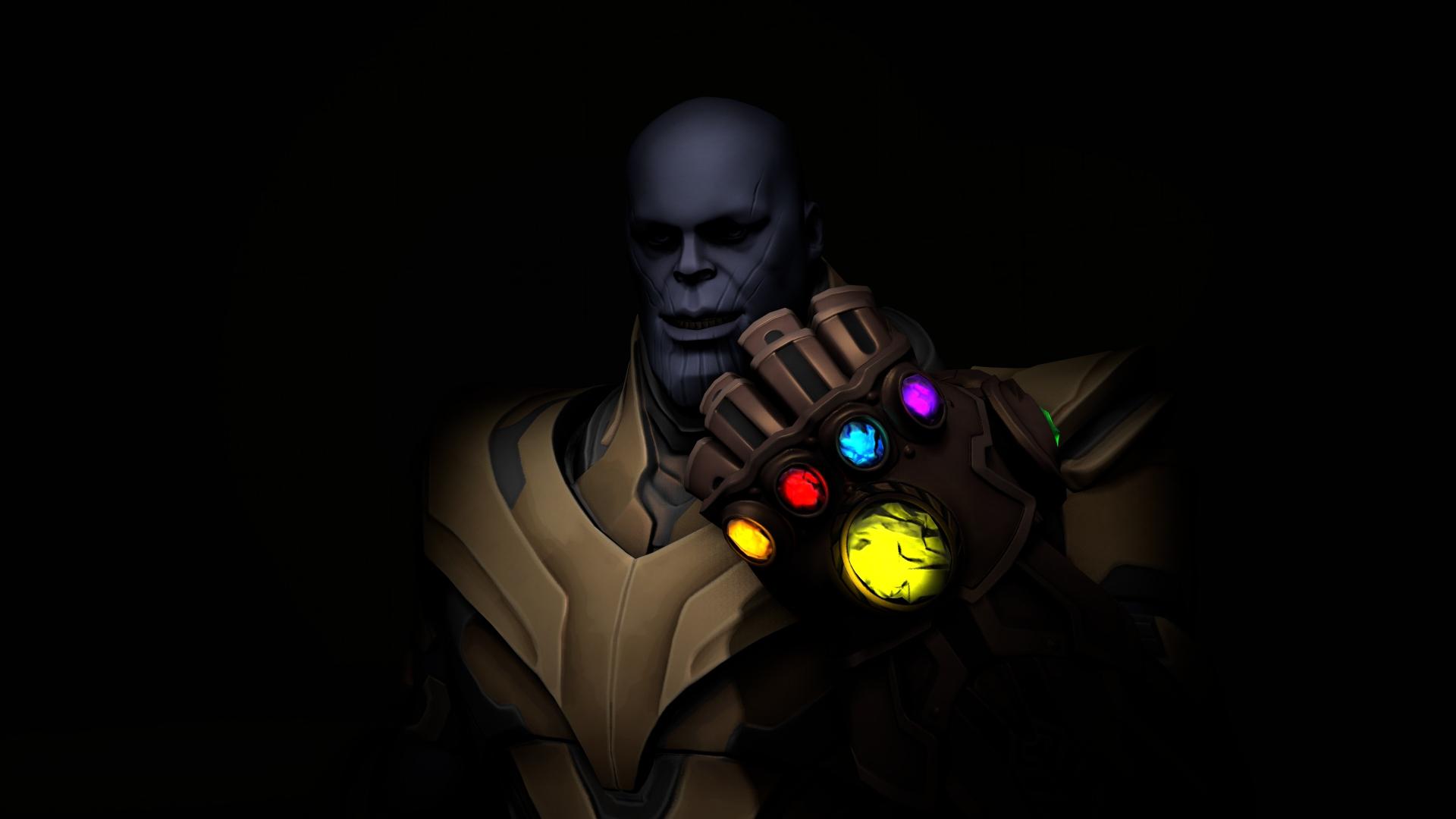 1920x1080 Galaxy Man Fortnite Season 6 4k Laptop Full Hd: Download 1920x1080 Wallpaper Thanos, Video Game, Villain
