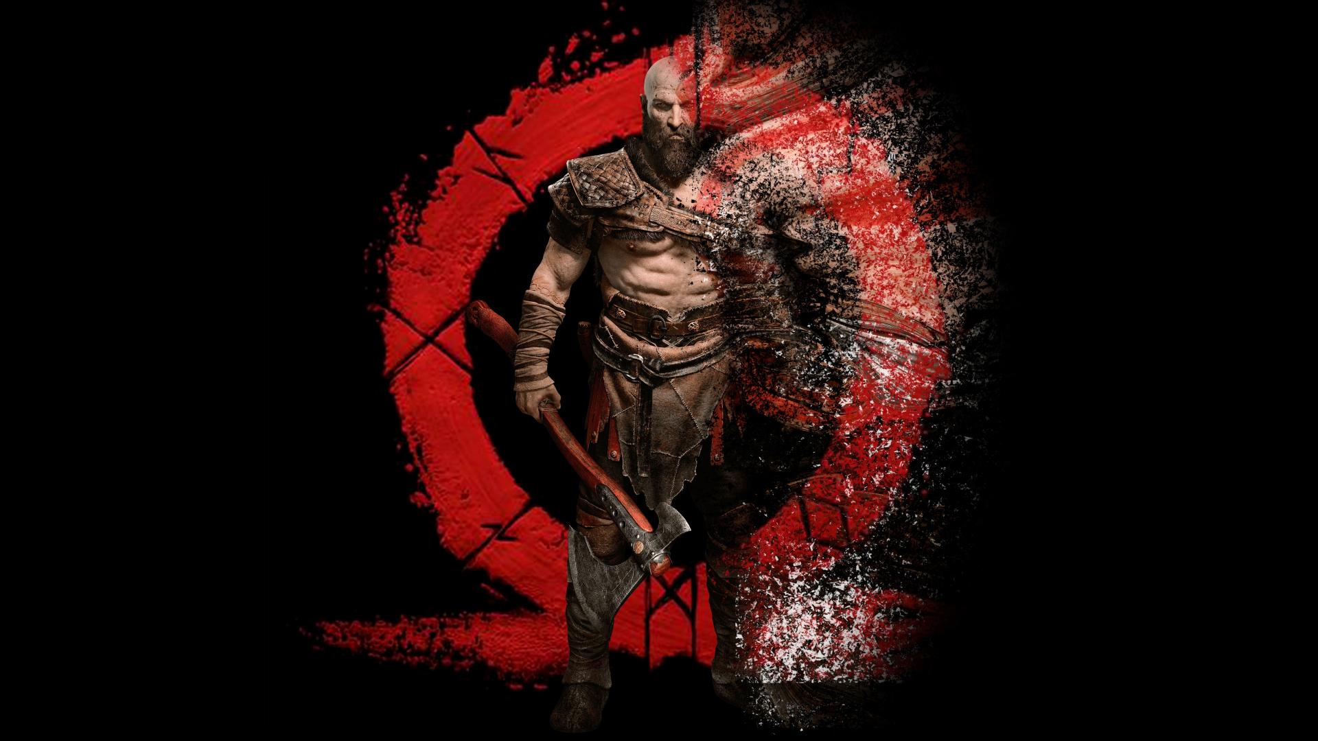 Download 1920x1080 Wallpaper Kratos Warrior Digital Art God Of