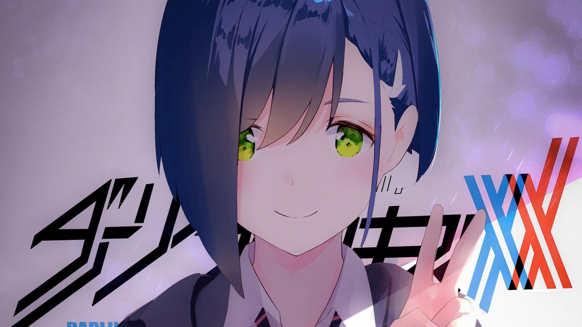 Download 1920x1080 Wallpaper Cute Eyes Ichigo Blue Hair Short