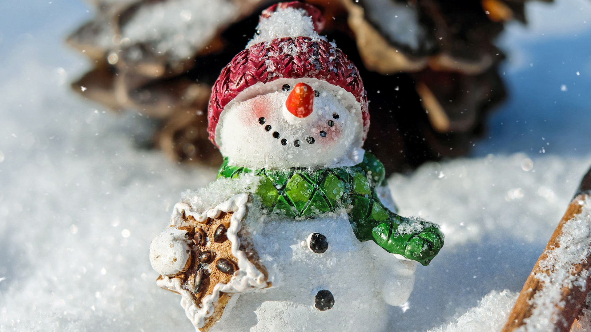 Download 1920x1080 wallpaper winter, snowman, funny ...