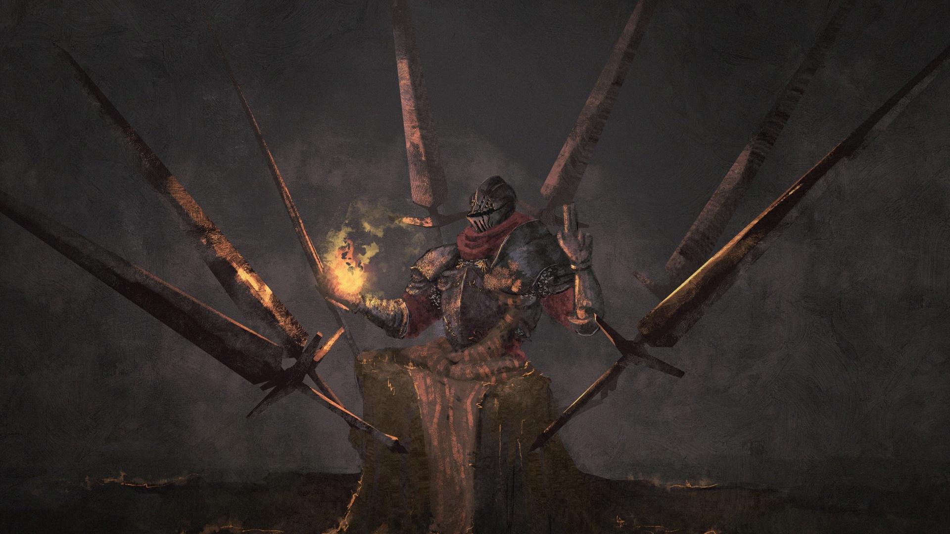 Download 1920x1080 Wallpaper Warrior Dark Souls Video Game