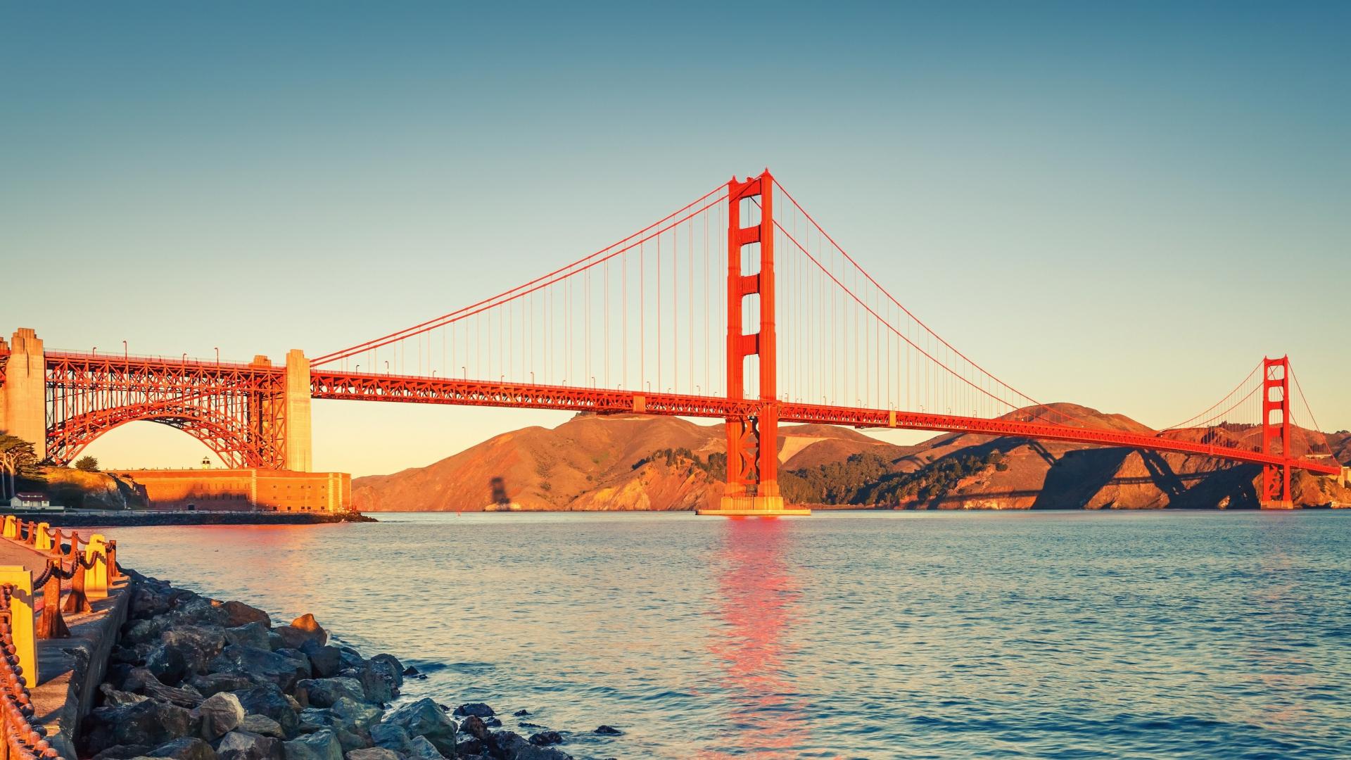 Download 1920x1080 Wallpaper Bridge Architecture Golden Gate