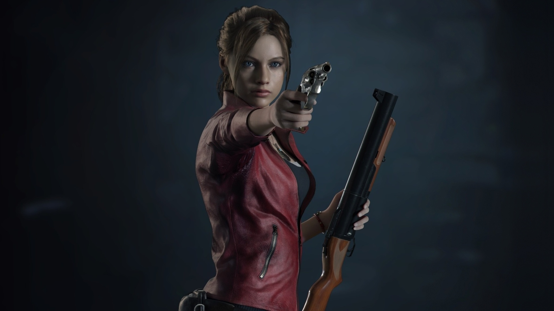 Resident Evil 2, video game, Claire Redfield, 1920x1080 wallpaper