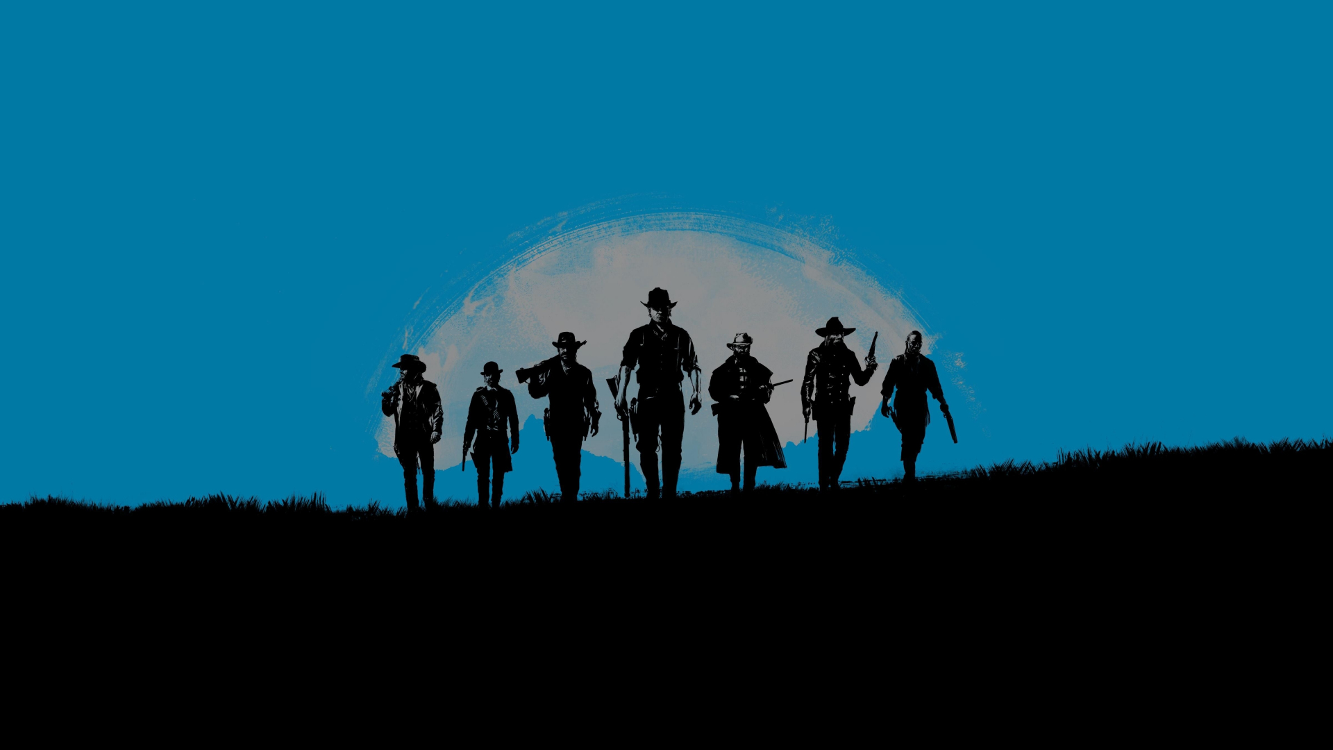 Download 1920x1080 Wallpaper Red Dead Redemption 2 Blue Poster