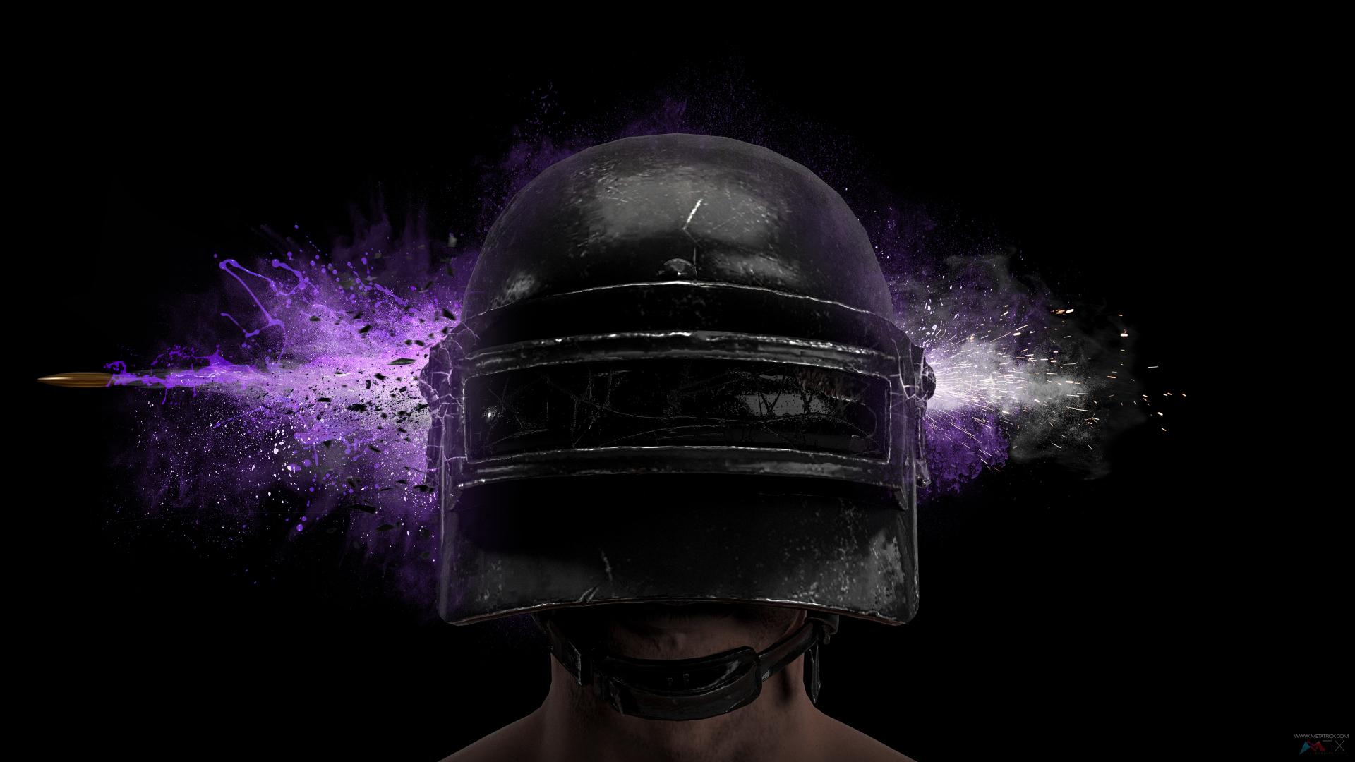 Download 1920x1080 Wallpaper Pubg Video Game Bullet Through Helmet
