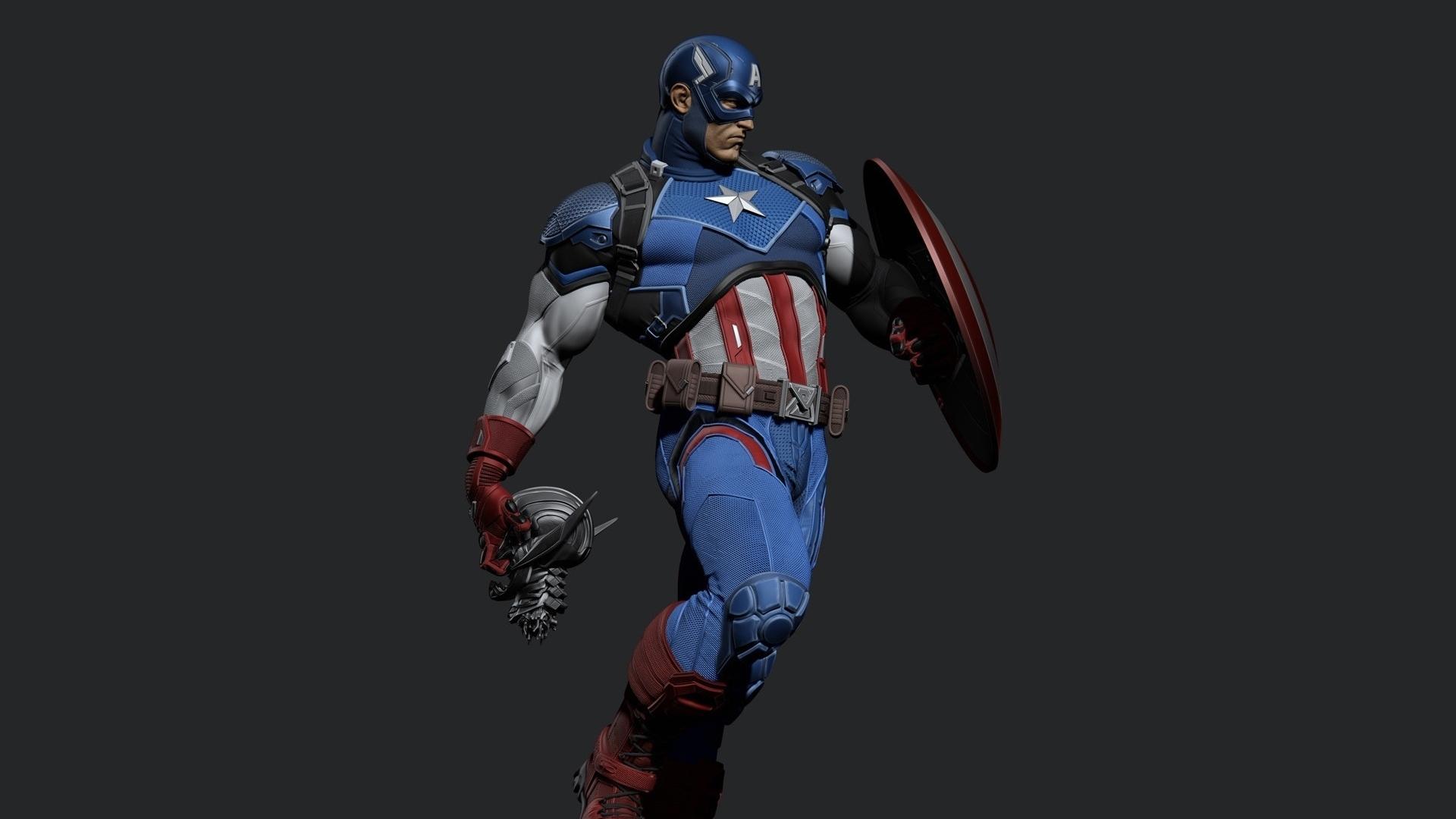 Download 1920x1080 Wallpaper Captain America Artwork 2018 Full Hd