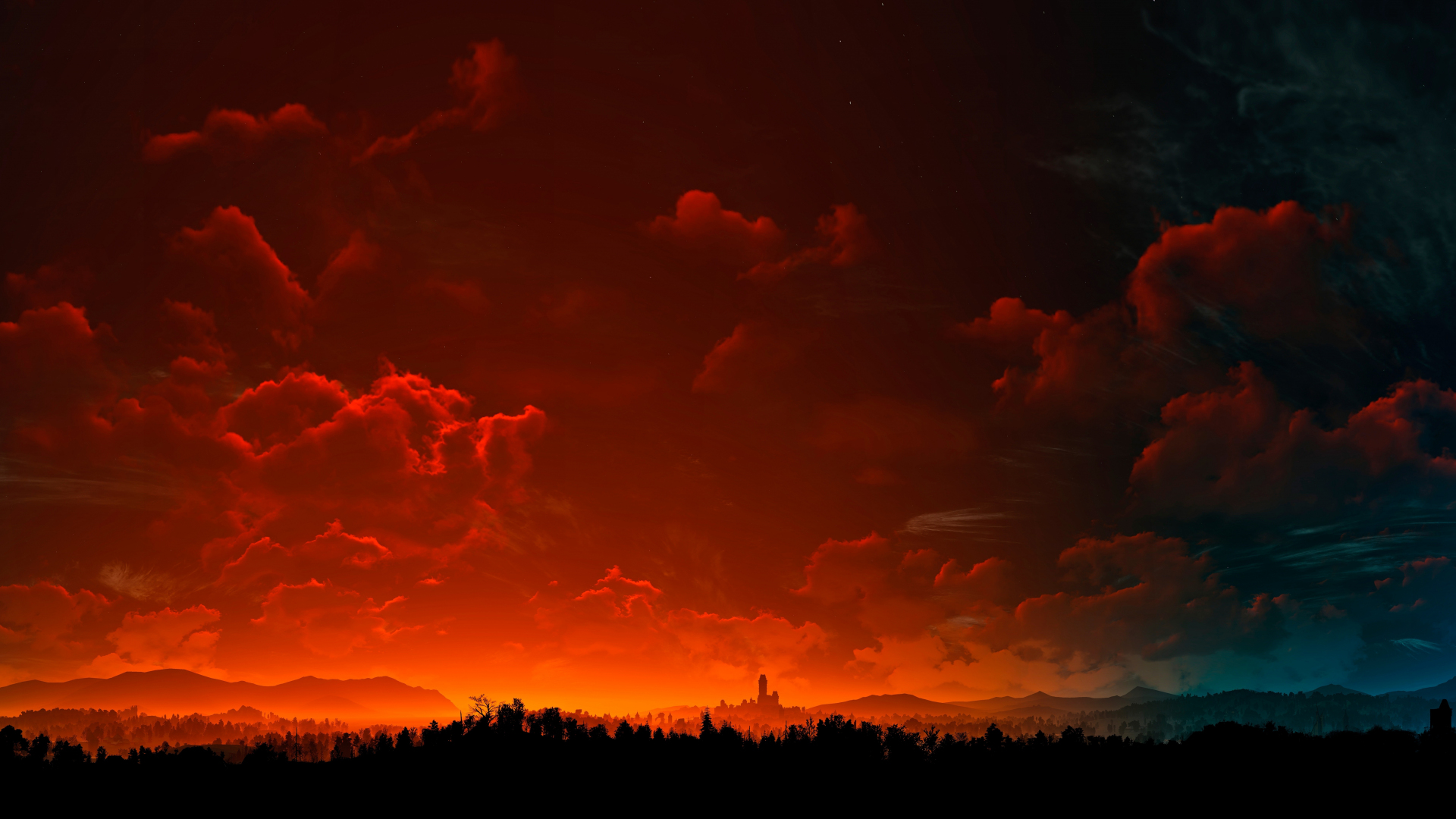 Download 1920x1080 Wallpaper Clouds Sunset Sky The