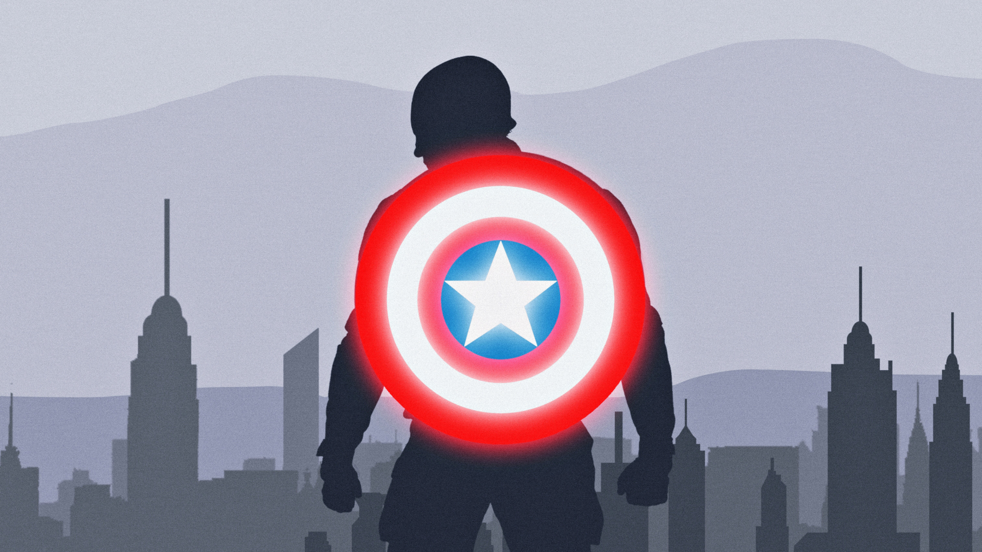 Download Wallpaper Marvel Minimalistic - captain-america-shield-minimal  You Should Have_946293.jpg