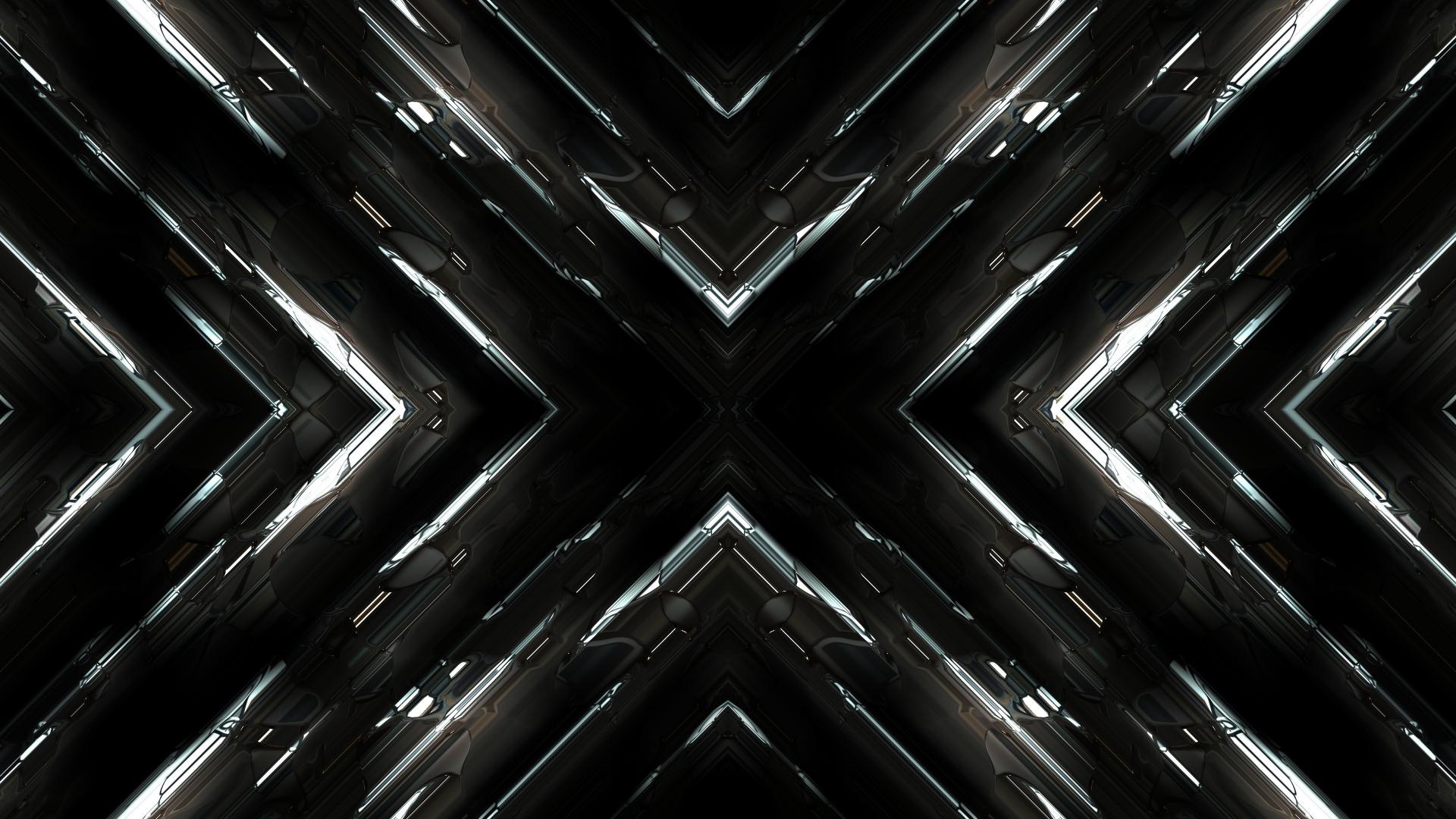Download 1920x1080 wallpaper fractal, dark, abstract, full ...