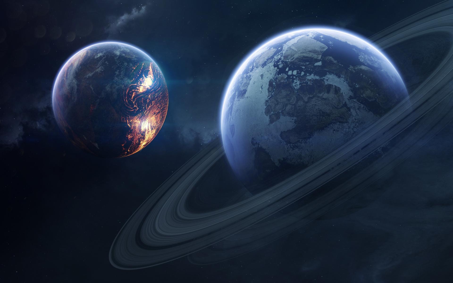 Saturn, space, planet of rings, 1920x1200 wallpaper