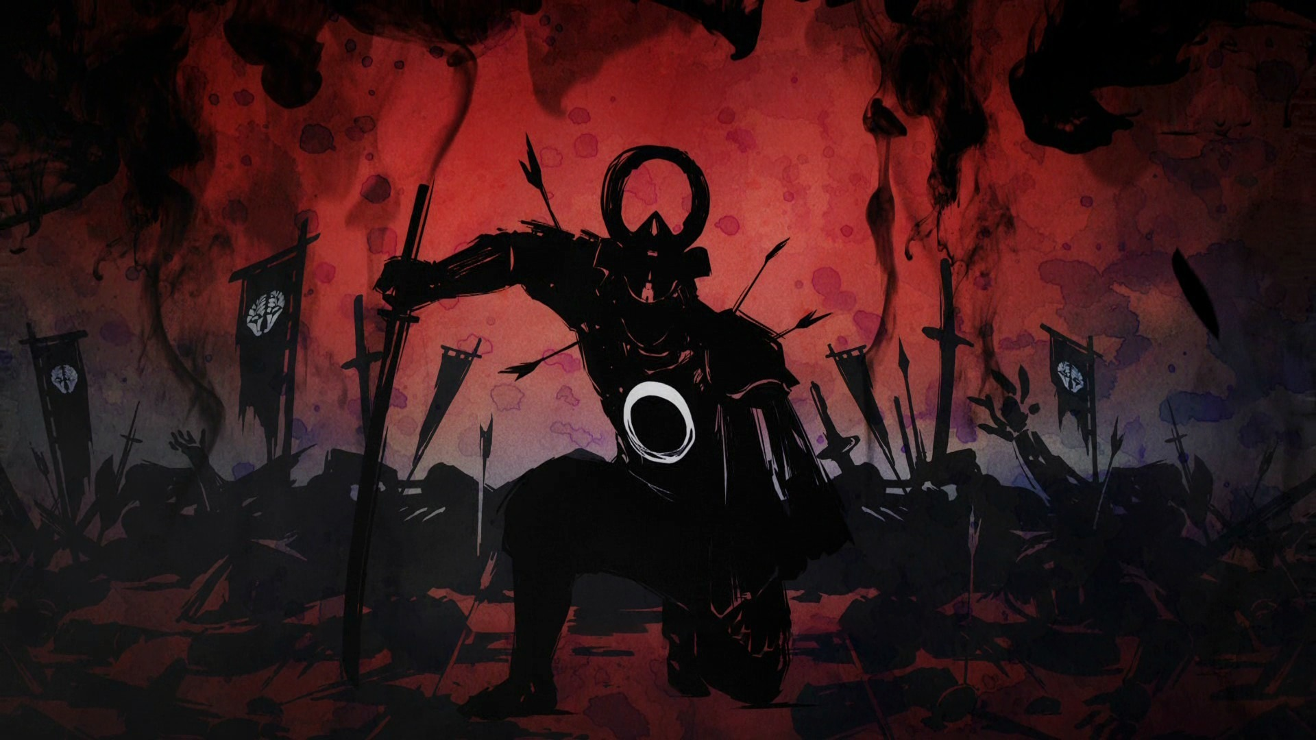 Download 1920x1200 Wallpaper Ninja Warrior Dark Art