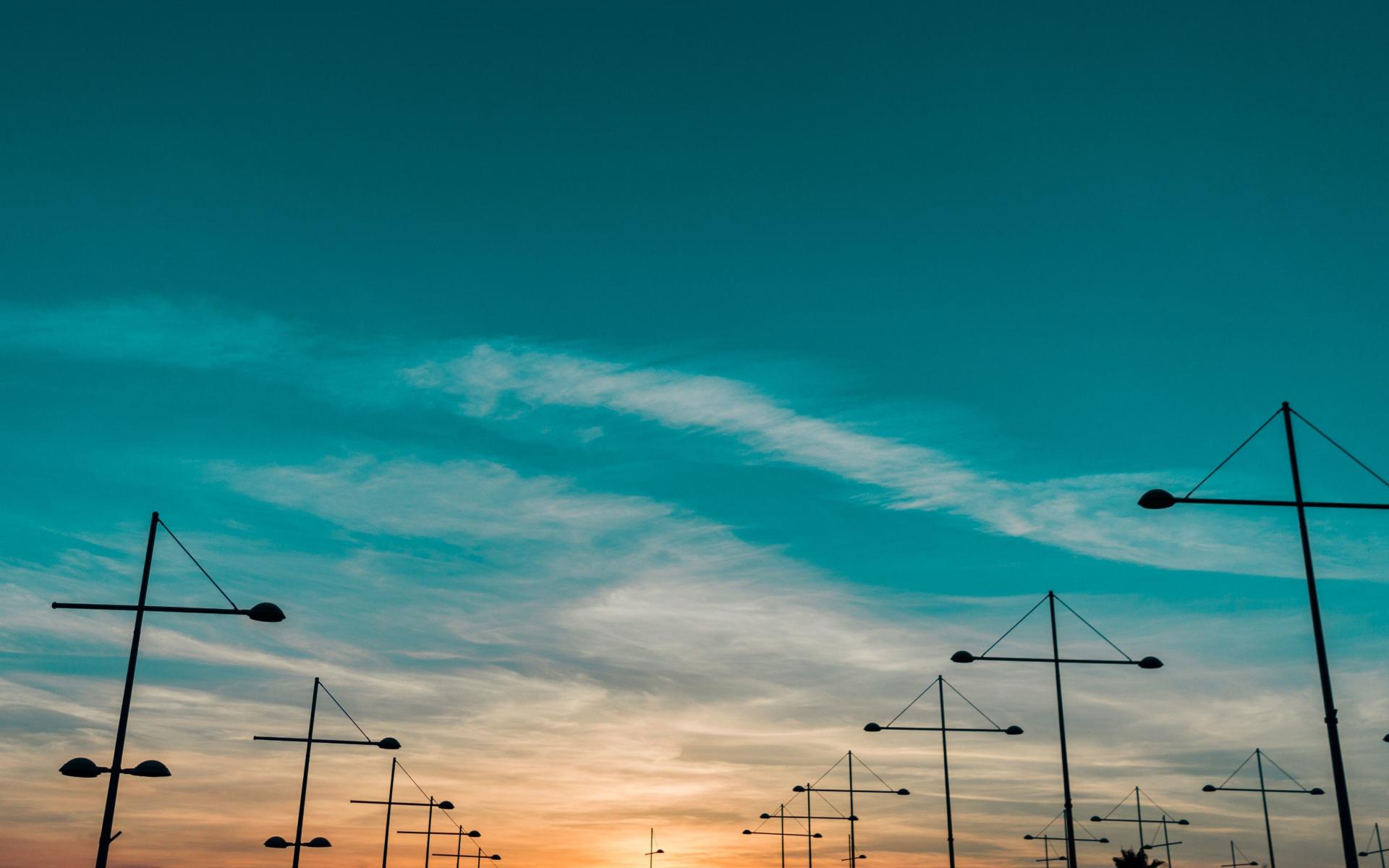 Sunset, landscape, skyline, 1920x1200 wallpaper