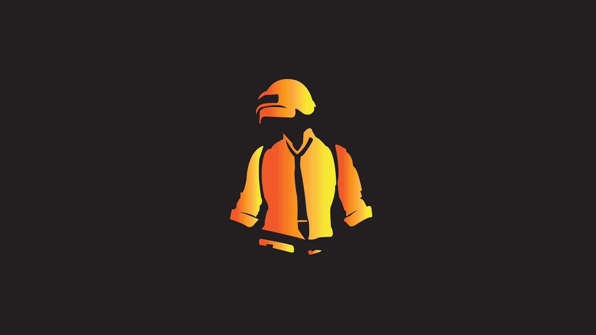 Download 2048x1152 Wallpaper Minimal Pubg Yellow Helmet