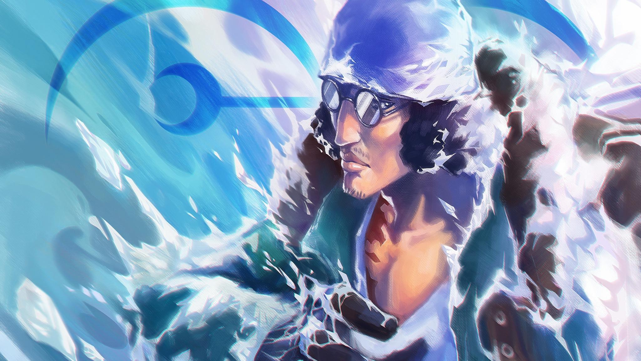 Download 2048x1152 Wallpaper Kuzan One Piece Anime Dual