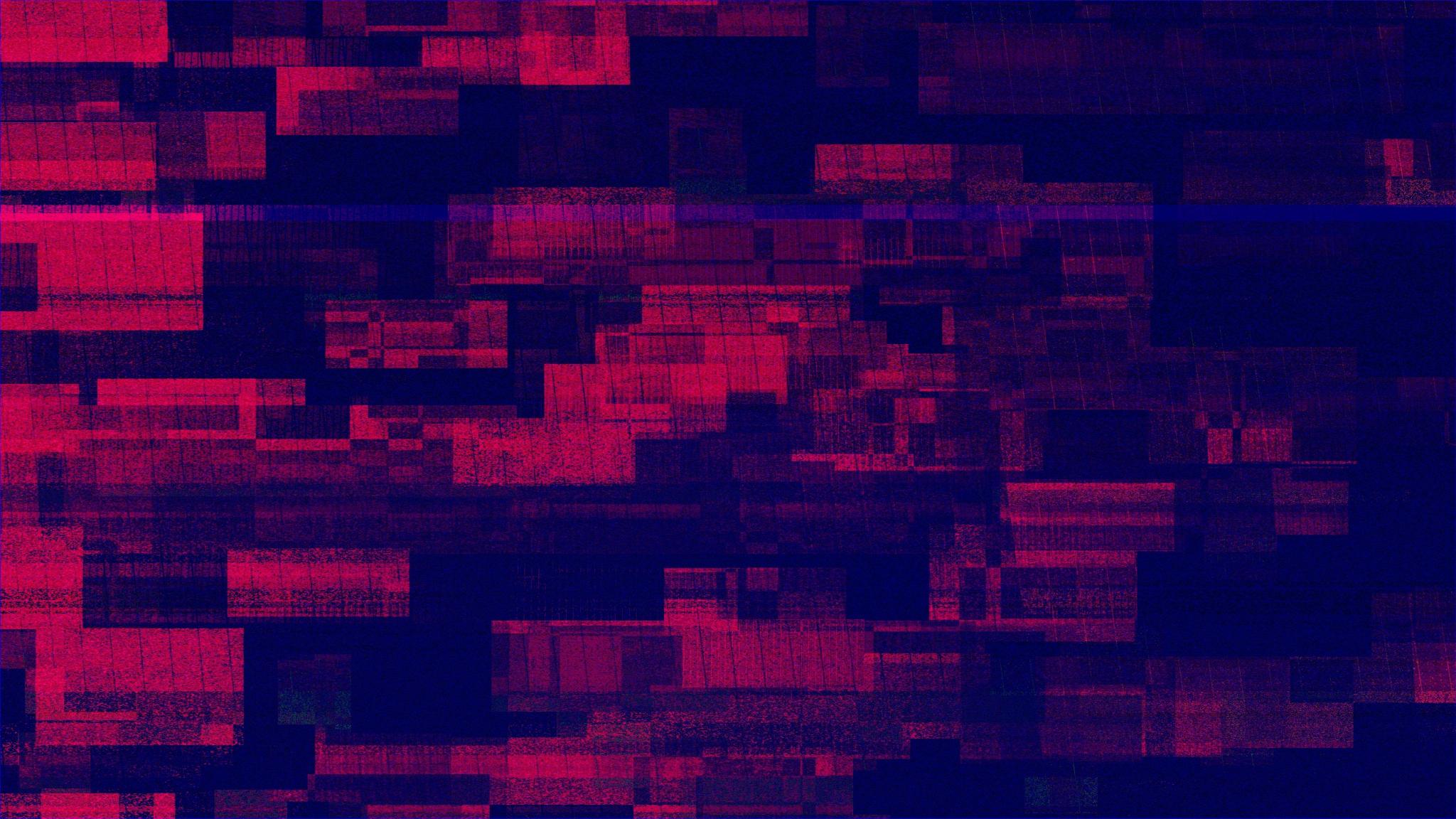 Download 2048x1152 Wallpaper Glitch Art Lines Pixels