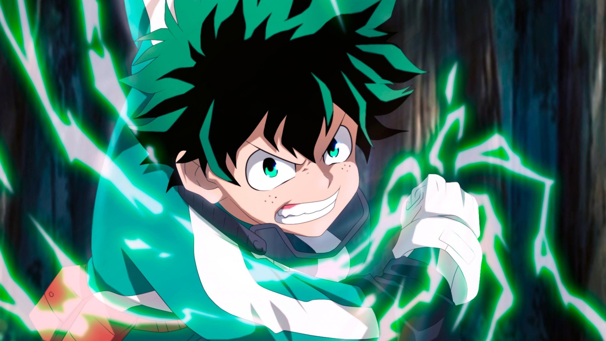 Download 2048x1152 Wallpaper Izuku Midoriya Angry Anime