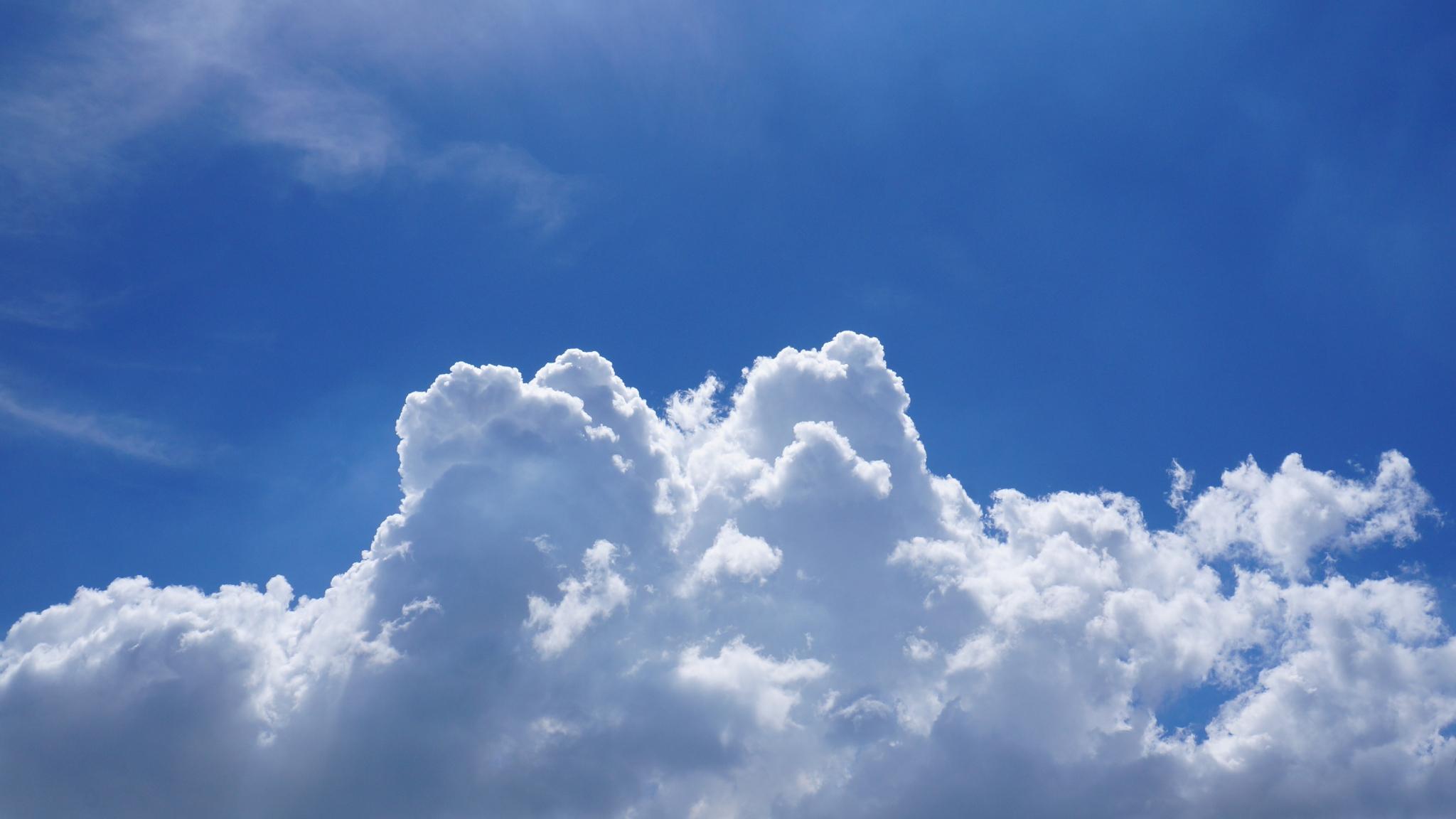 Download 2048x1152 wallpaper blue sky, clouds, dual wide ...
