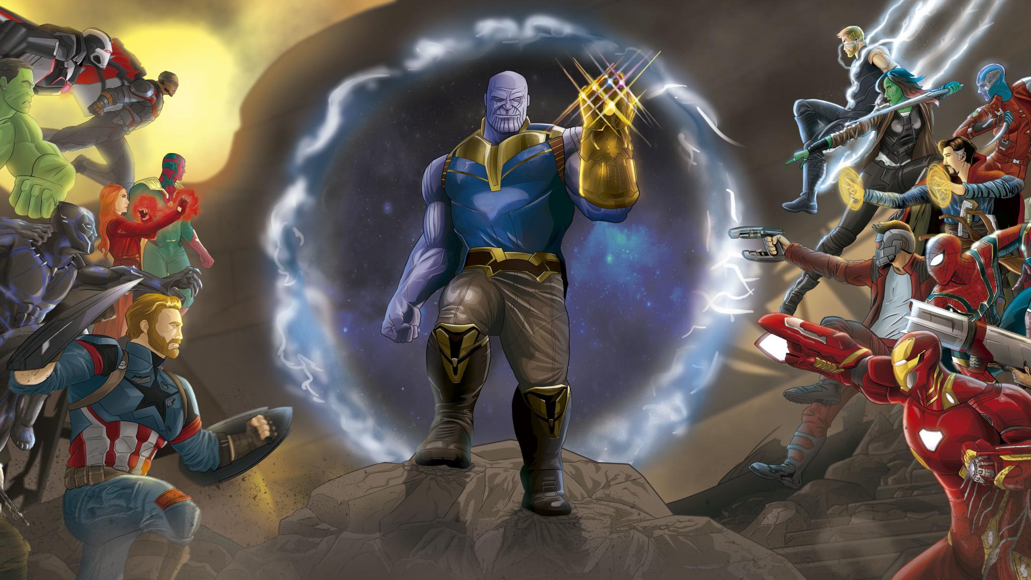 Pubg Fan Art 5k Wallpapers: Download 2048x1152 Wallpaper Marvel, Avengers: Infinity