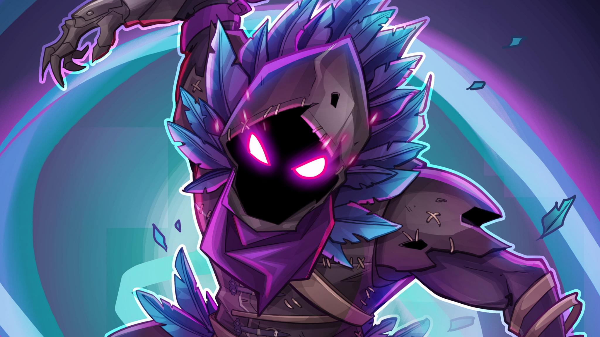 Download 2048x1152 Wallpaper Raven Fortnite Battle Royale Creature