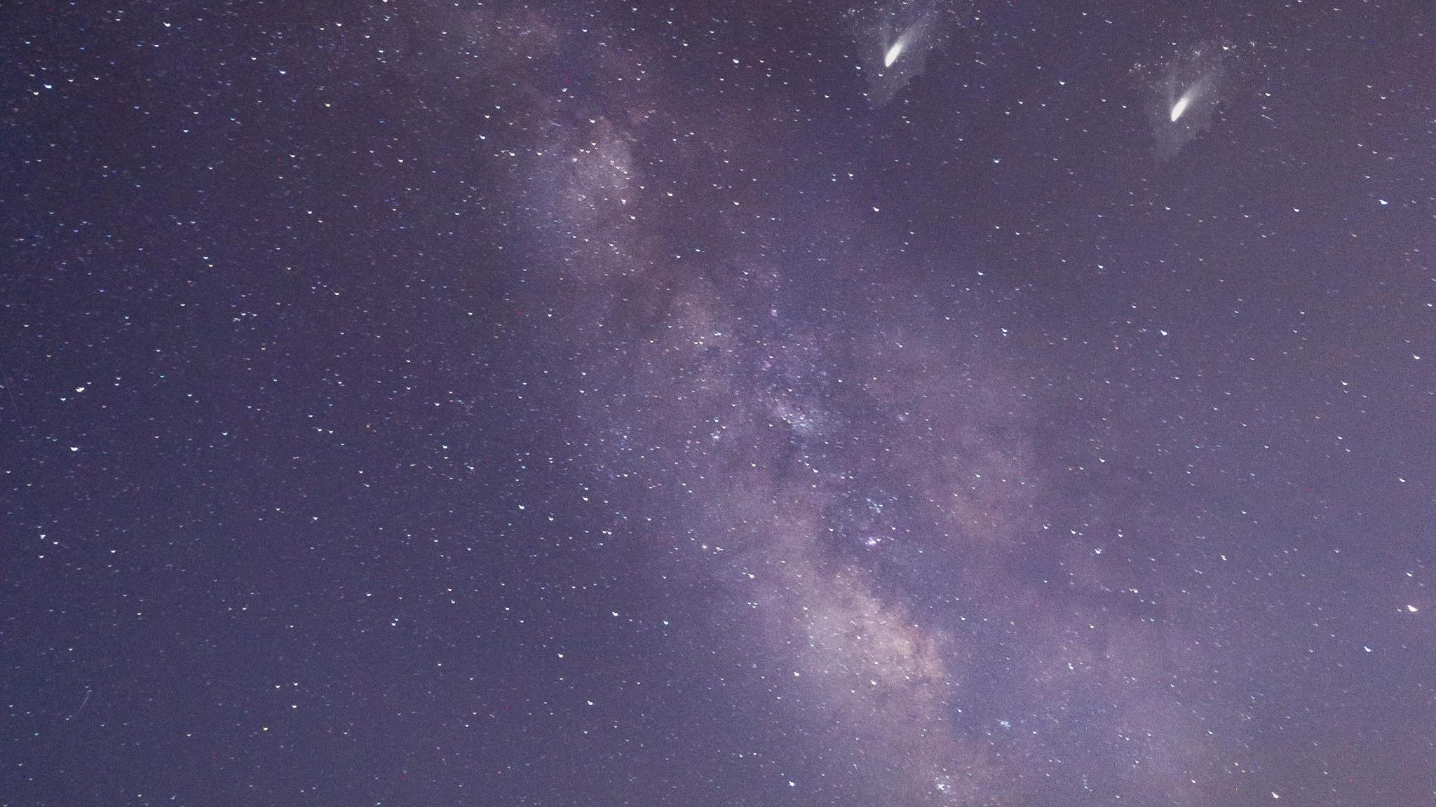 Milky way, desert, night, sky, 2048x1152 wallpaper