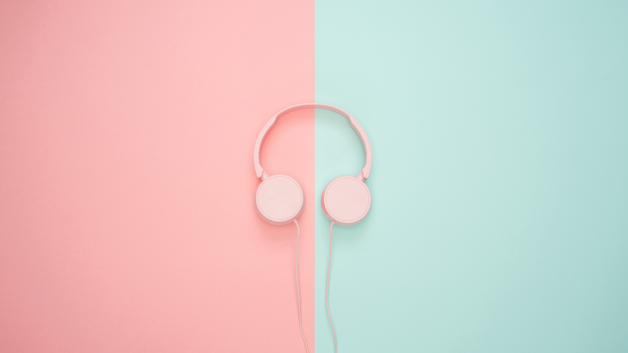 Download 2048x1152 Wallpaper Headphones Music Minimal