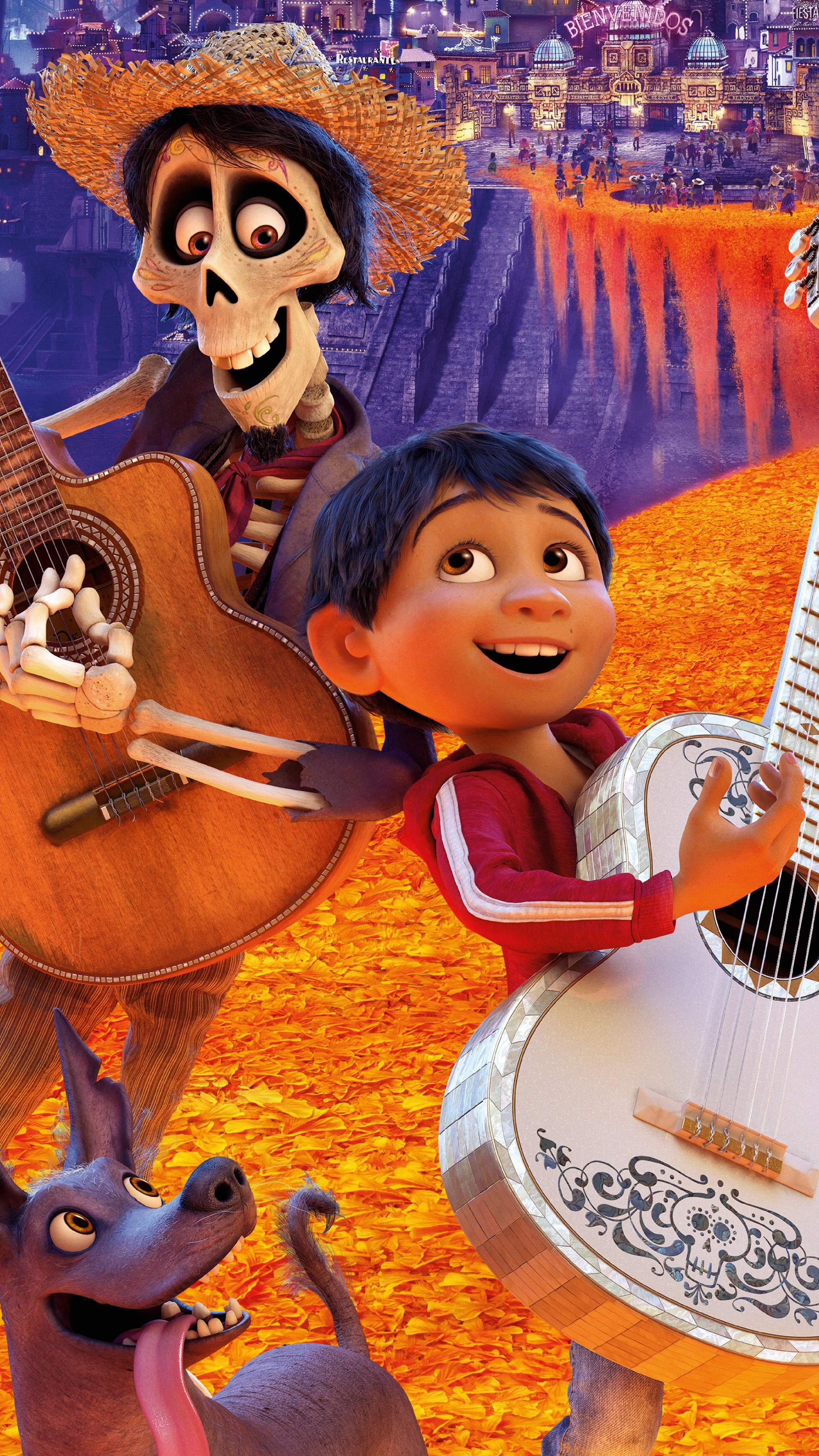Download 2160x3840 Wallpaper Coco Animation Movie Dance Ghost 2017 4 Sony Xperia Z5 Premium Dual Hd Image Background 290