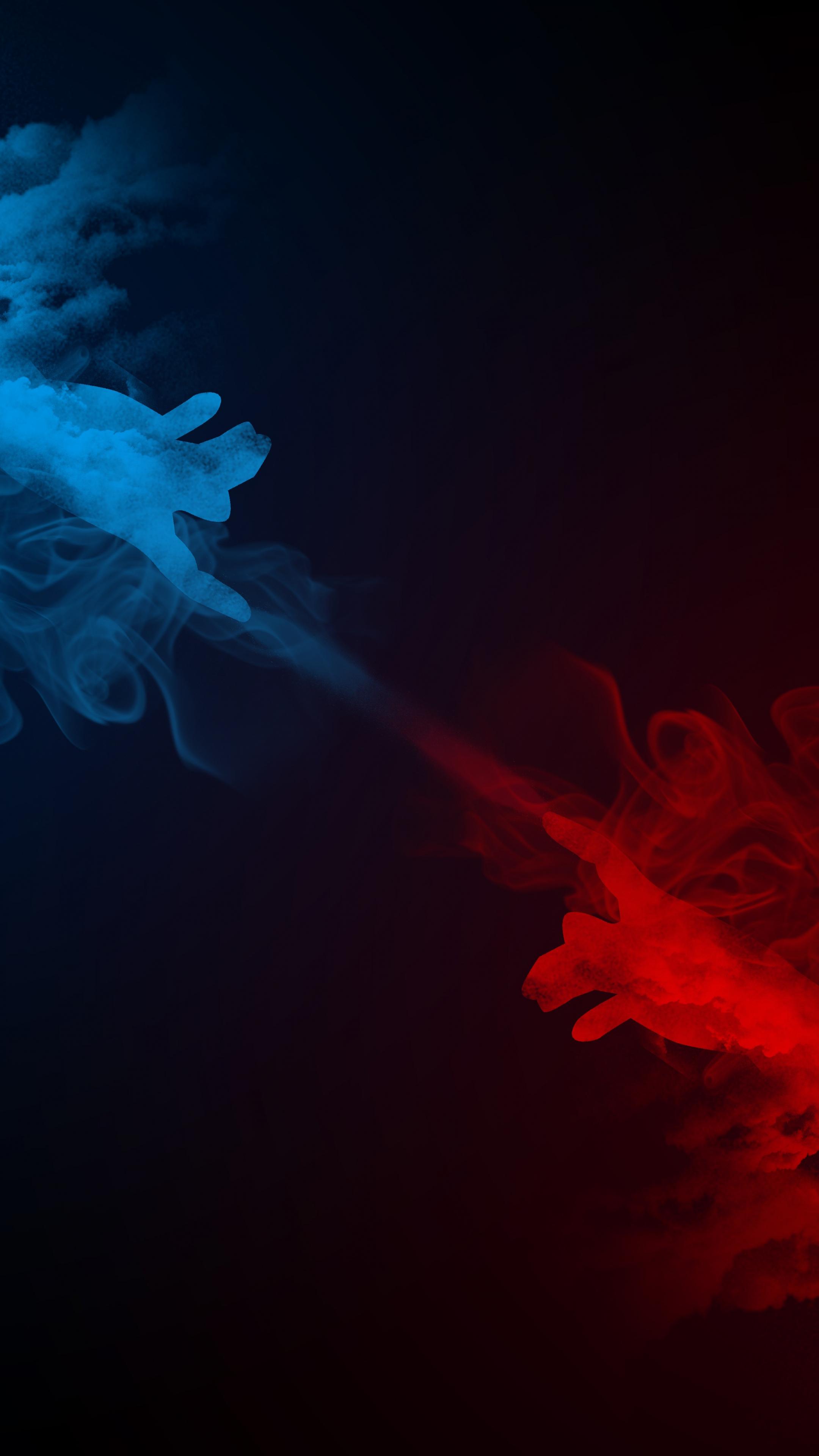 Smoke, hands, digital art, abstract, 2160x3840 wallpaper