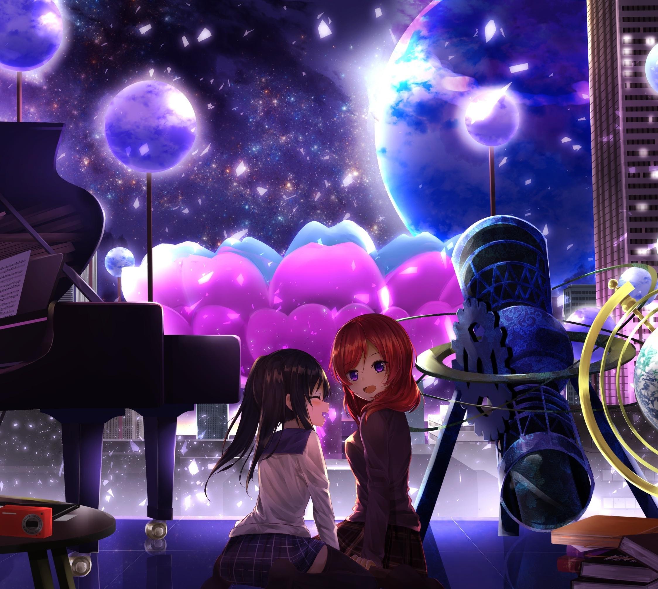 Maki Nishikino Nico Yazawa Love Live Anime Girls 2248x2248 Wallpaper