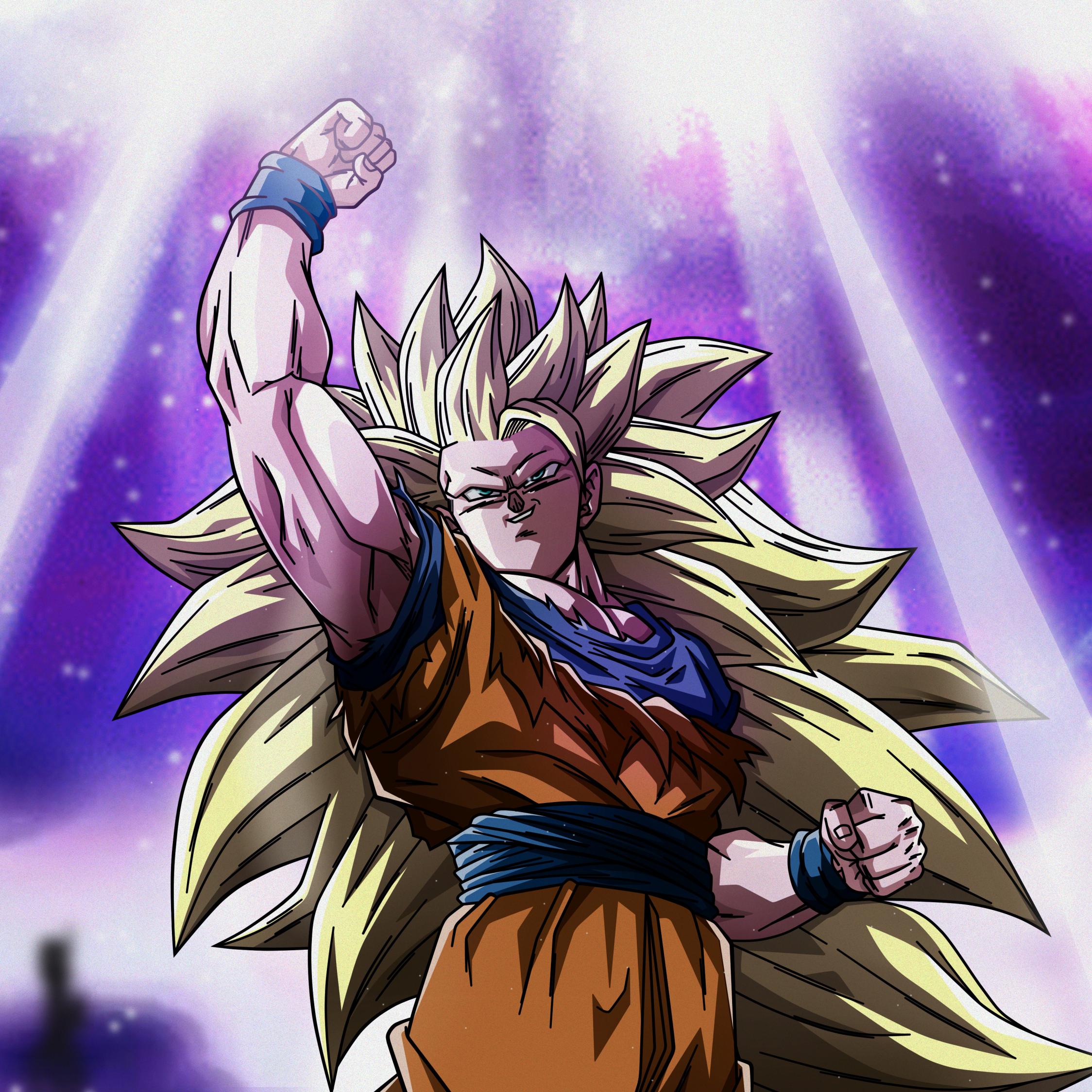Download 2248x2248 Wallpaper Goku Super Saiyan Anime Dragon