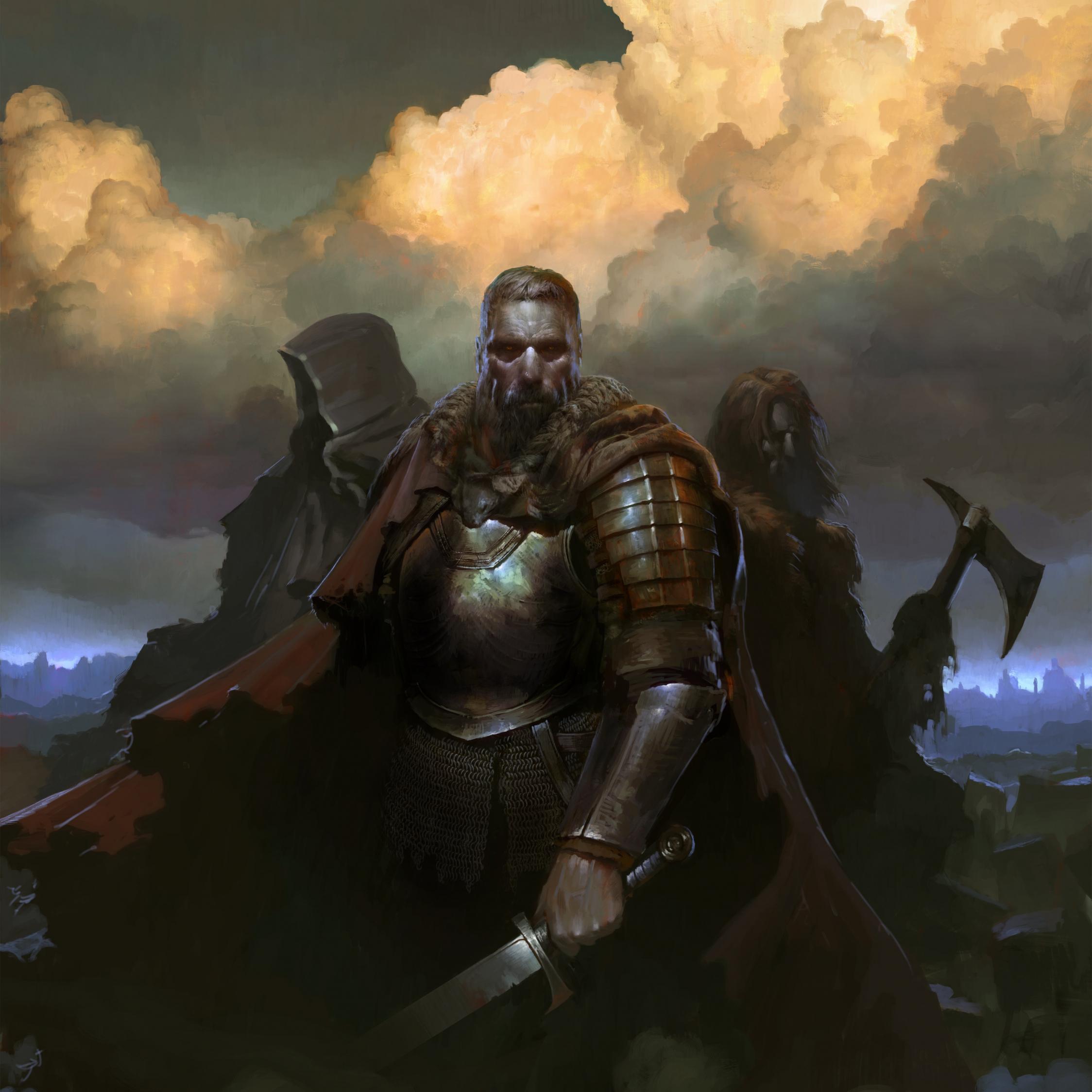 SpellForce 3, warriors, Video game, 2248x2248 wallpaper