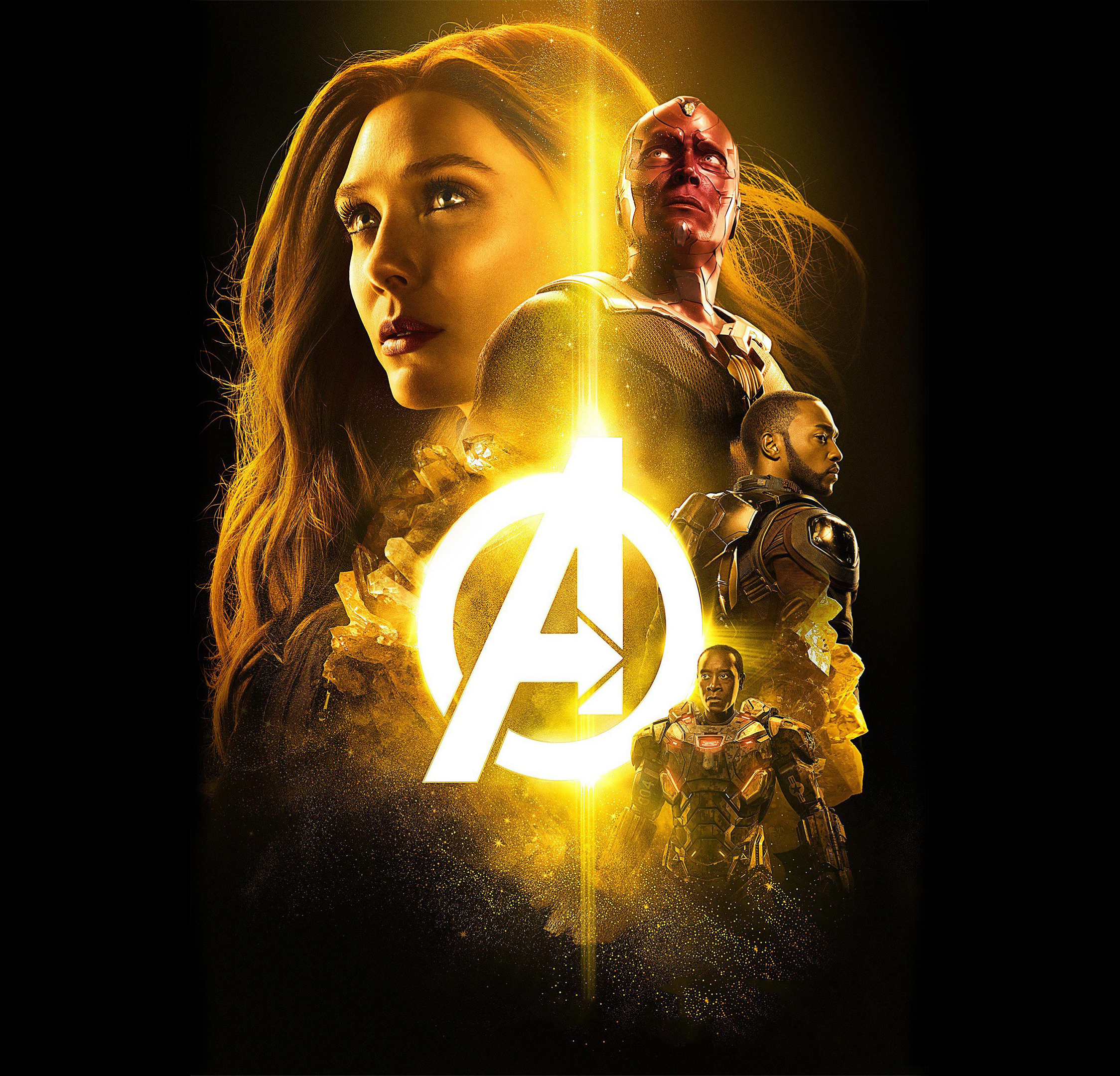 Download Wallpaper Marvel Ipad Air - avengers-infinity-war-2018-the-mind-stone-poster-4k  Best Photo Reference_244960.jpg