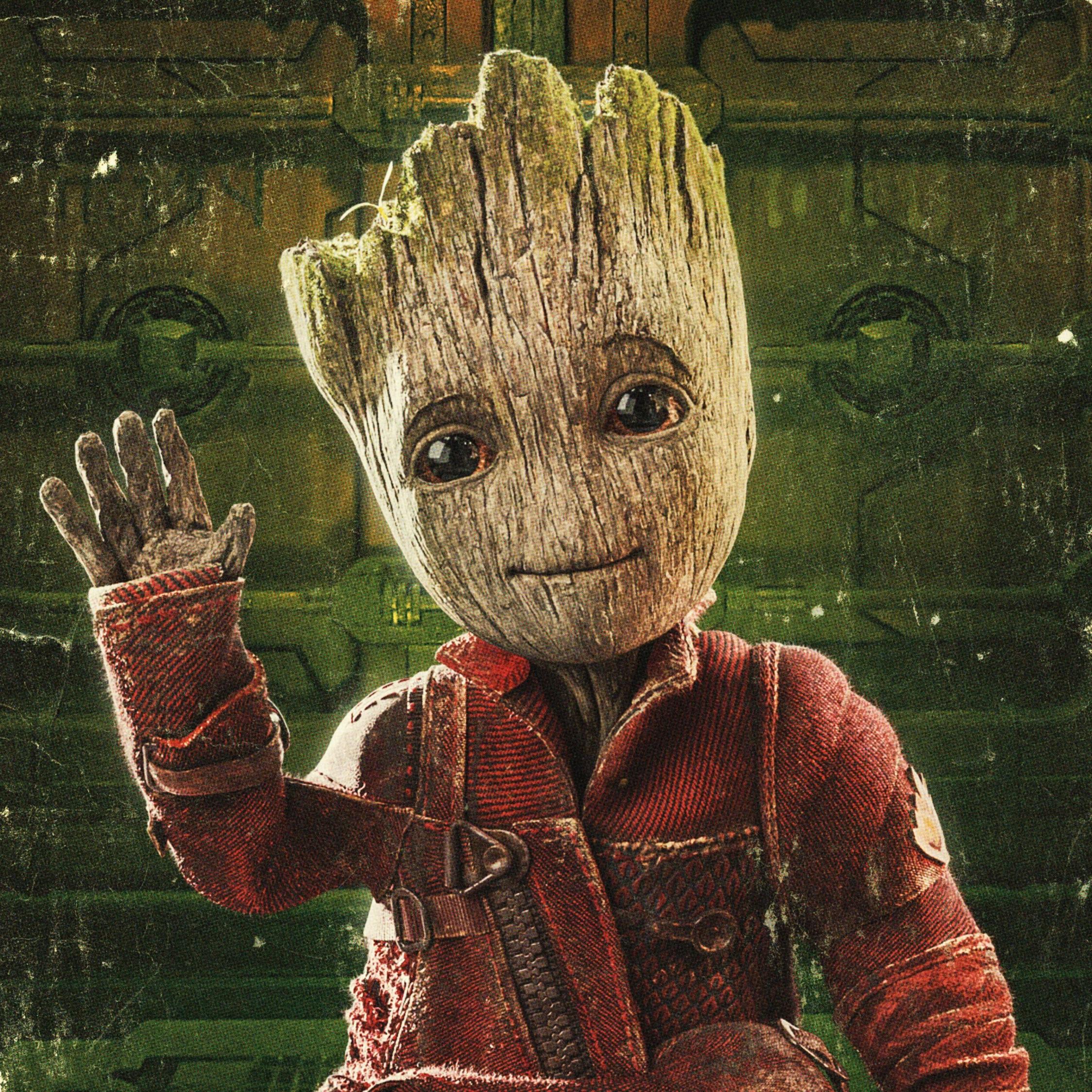Download 2248x2248 Wallpaper Baby Groot Guardians Of The