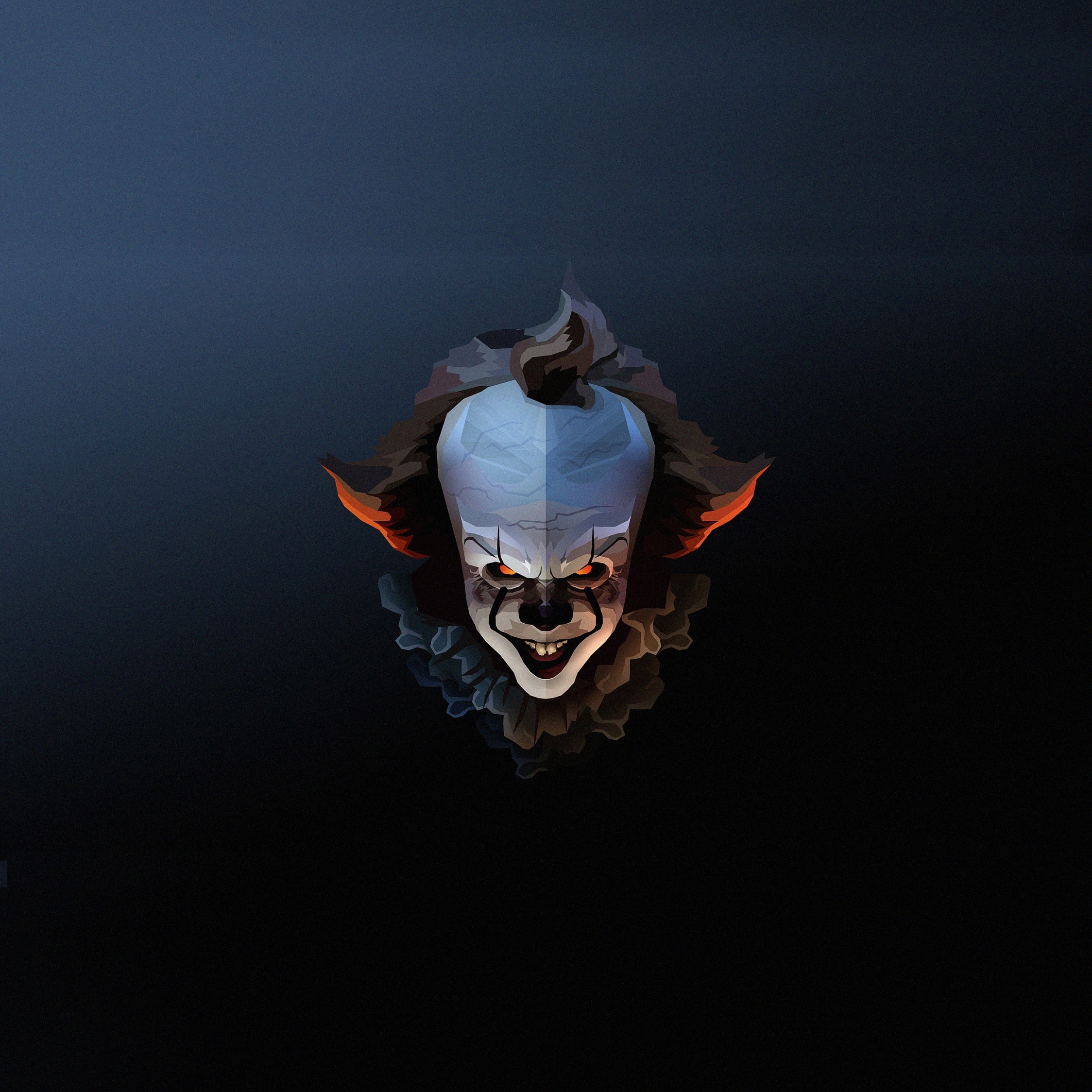 Download 2248x2248 Wallpaper Pennywise The Clown Halloween