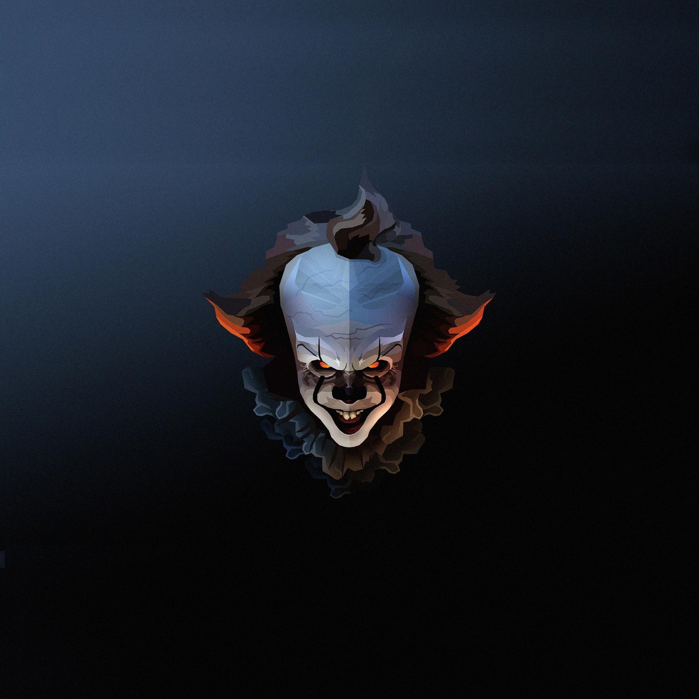 Pennywise, The Clown, halloween, artwork, 2248x2248 wallpaper