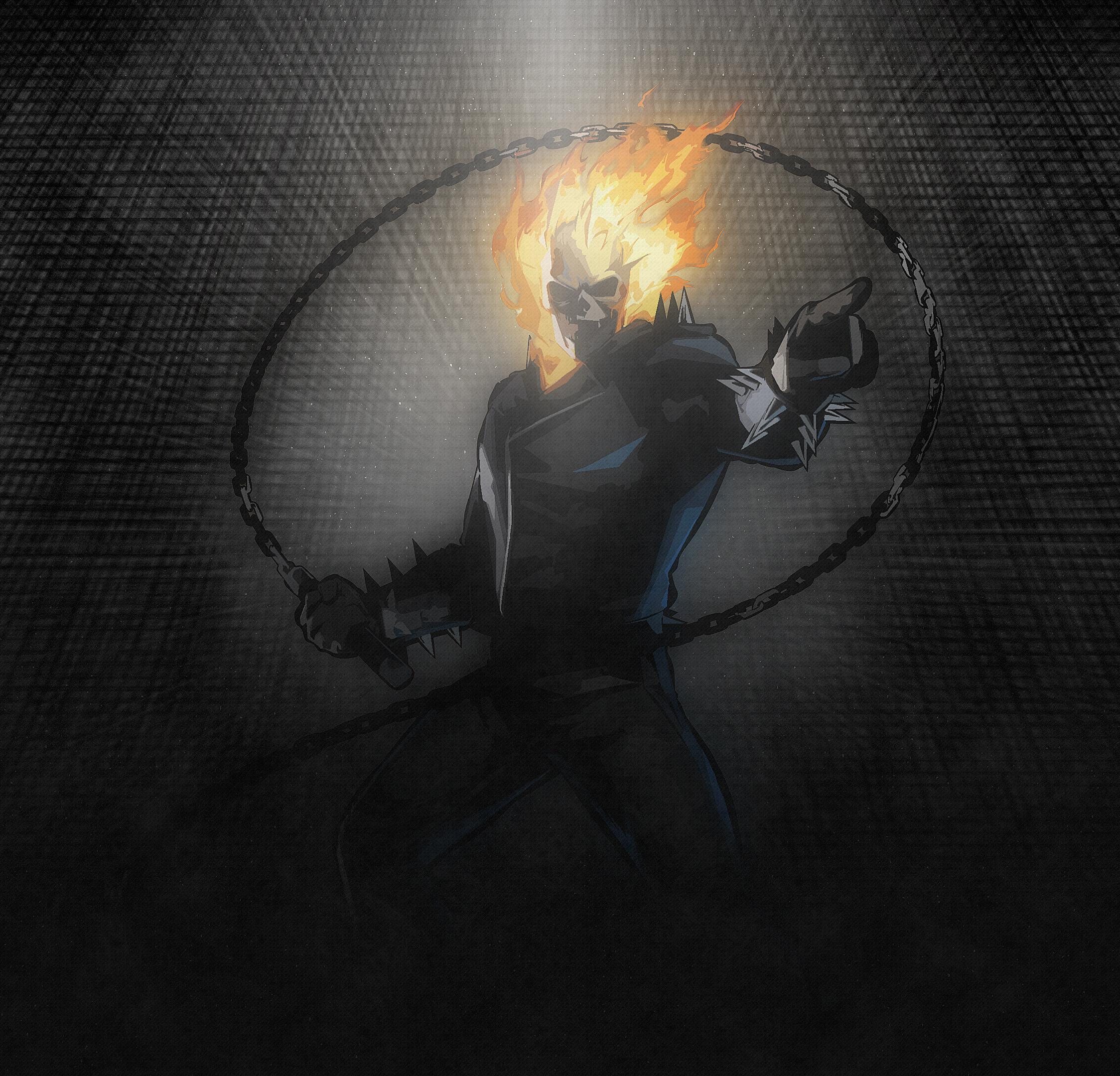 Popular Wallpaper Marvel Ipad Air - ghost-rider-artwork-4k  You Should Have_83641.jpg