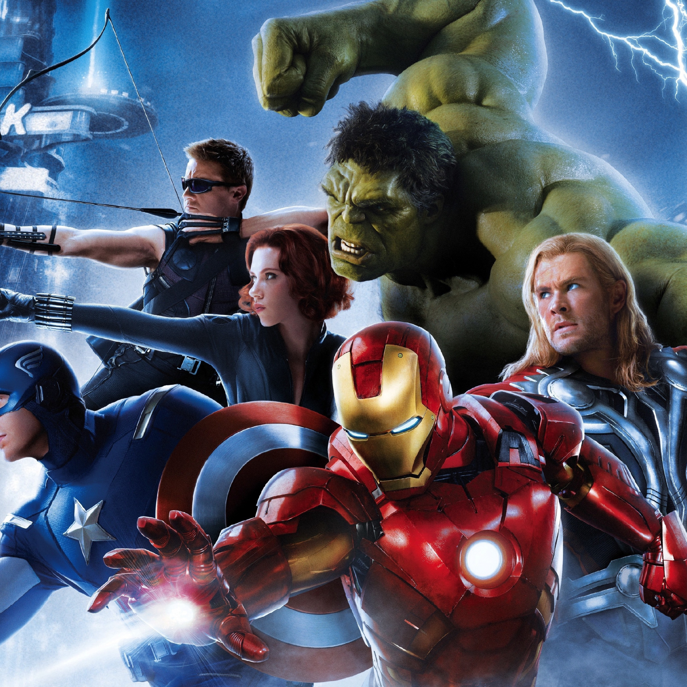 Download 2248x2248 Wallpaper Iron Man Thor Captain America