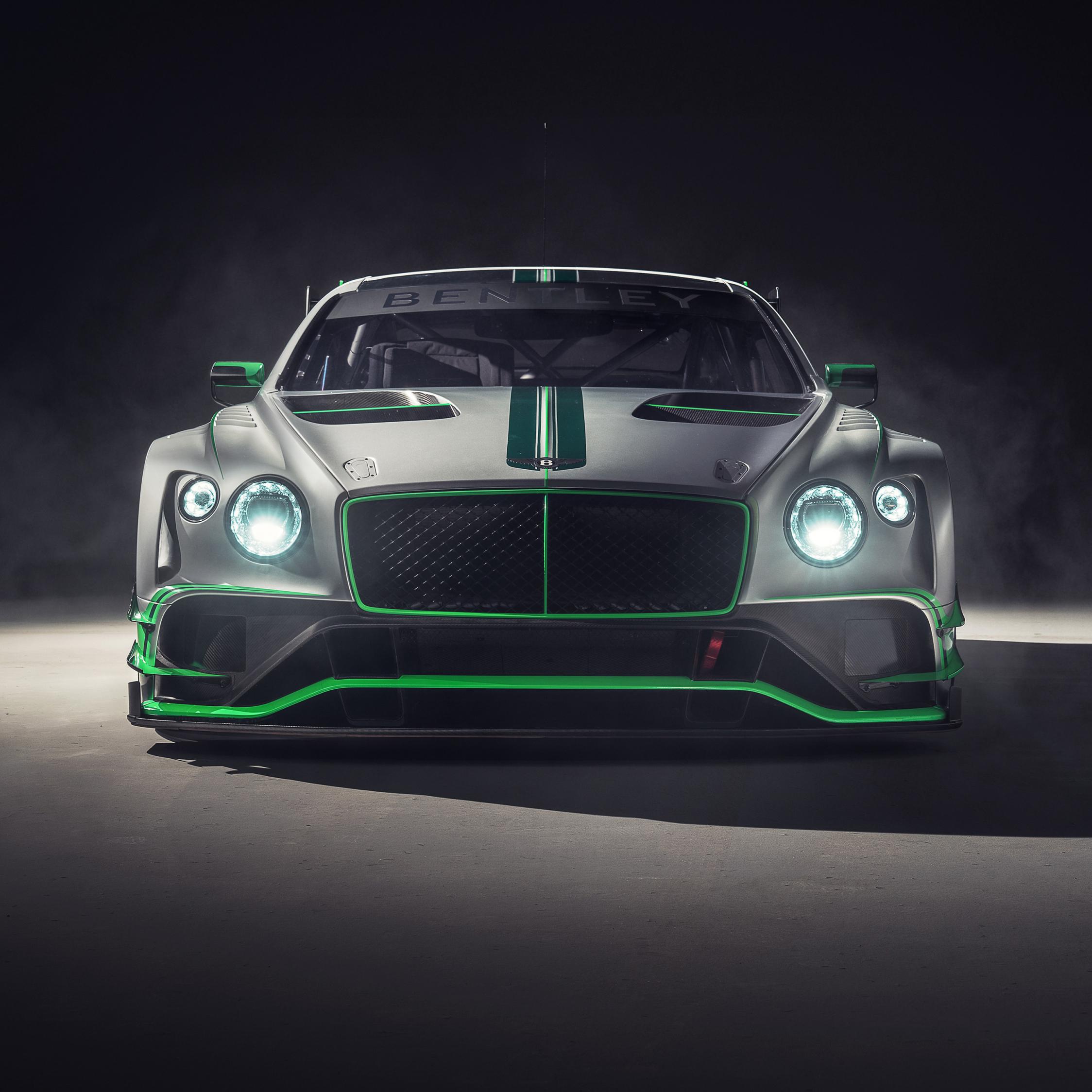 Bentley continental GT3, 2018 car, front, 2248x2248 wallpaper