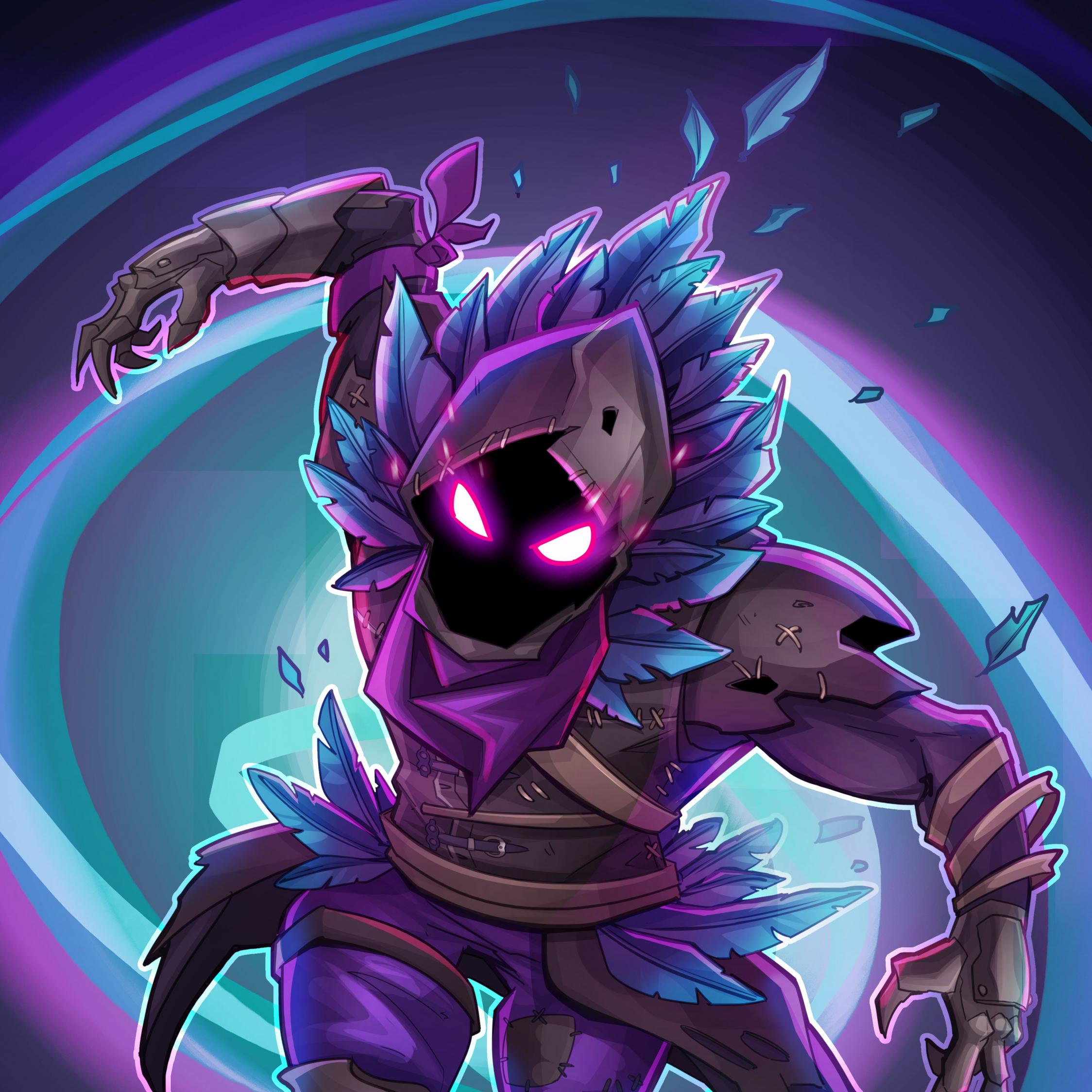 Download 2248x2248 Wallpaper Raven, Fortnite Battle Royale