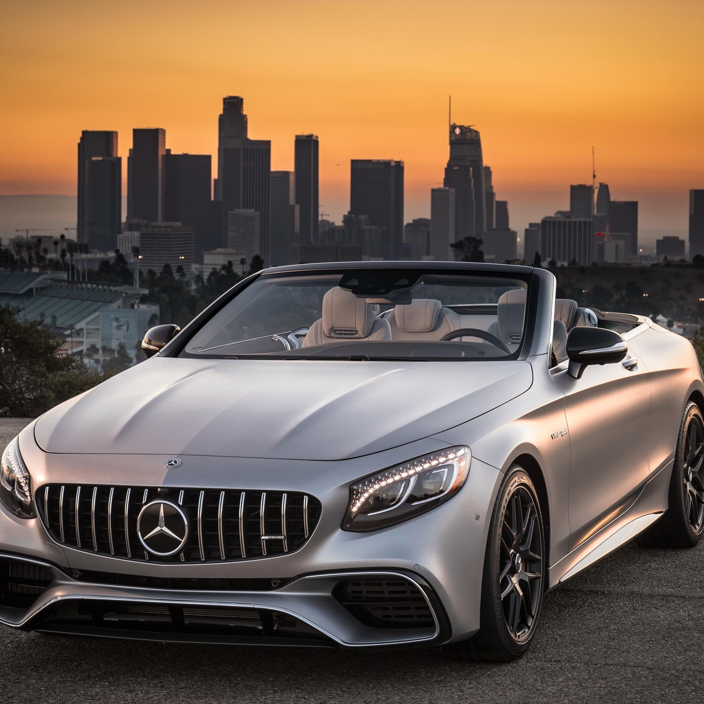 Mercedes-AMG S63 4MATIC Cabriolet, sports car, 2248x2248 wallpaper