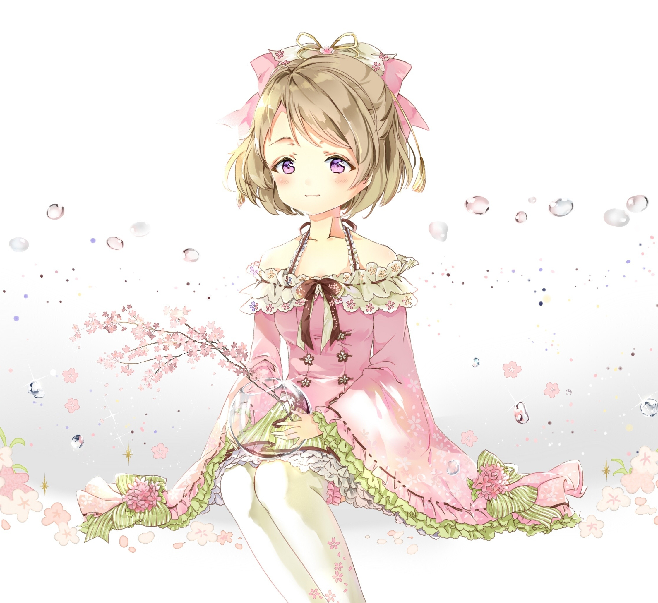 Cute Minimal Hanayo Koizumi Love Live Anime Girl 2248x2248 Wallpaper
