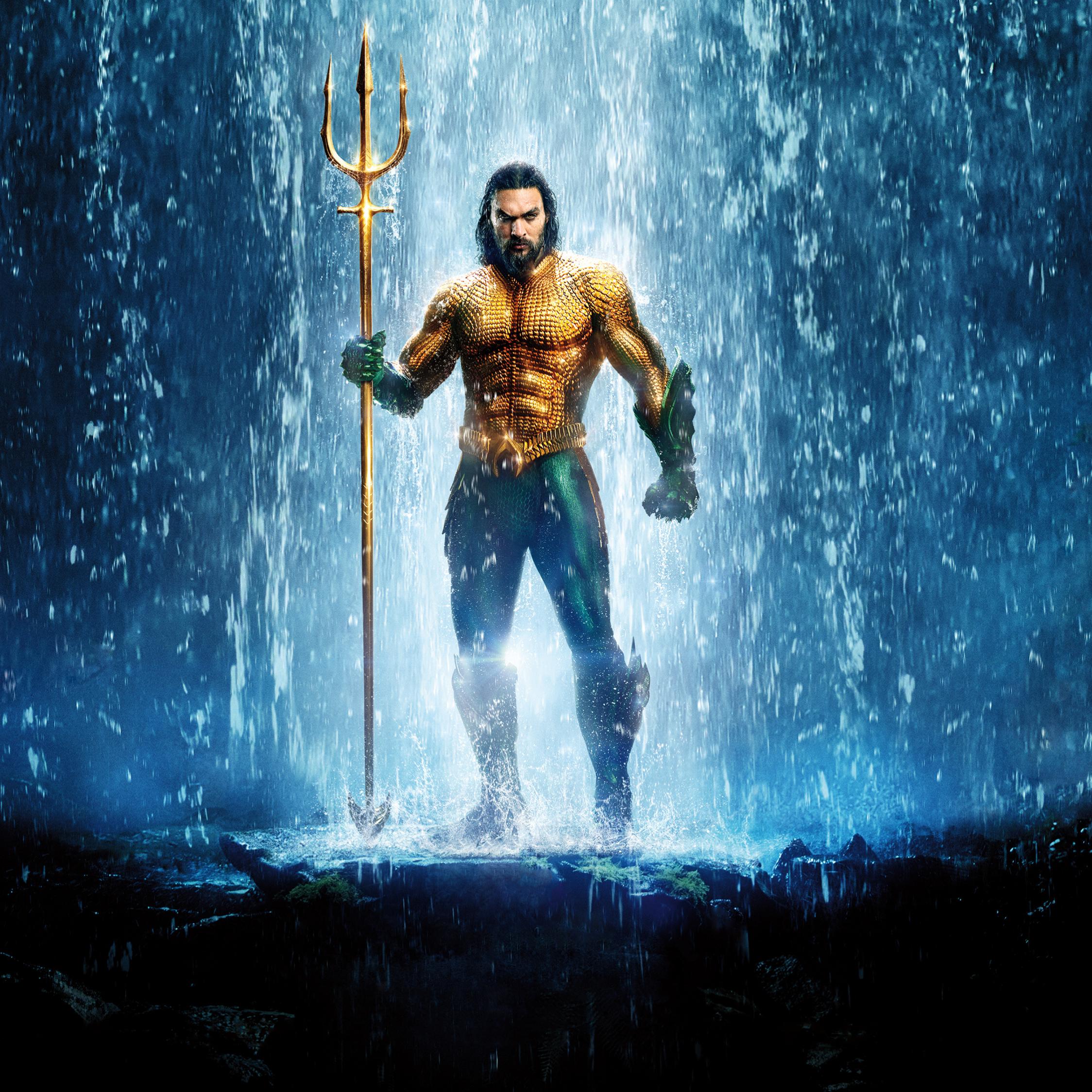Download 2248x2248 Wallpaper Aquaman, Jason Momoa, Poster